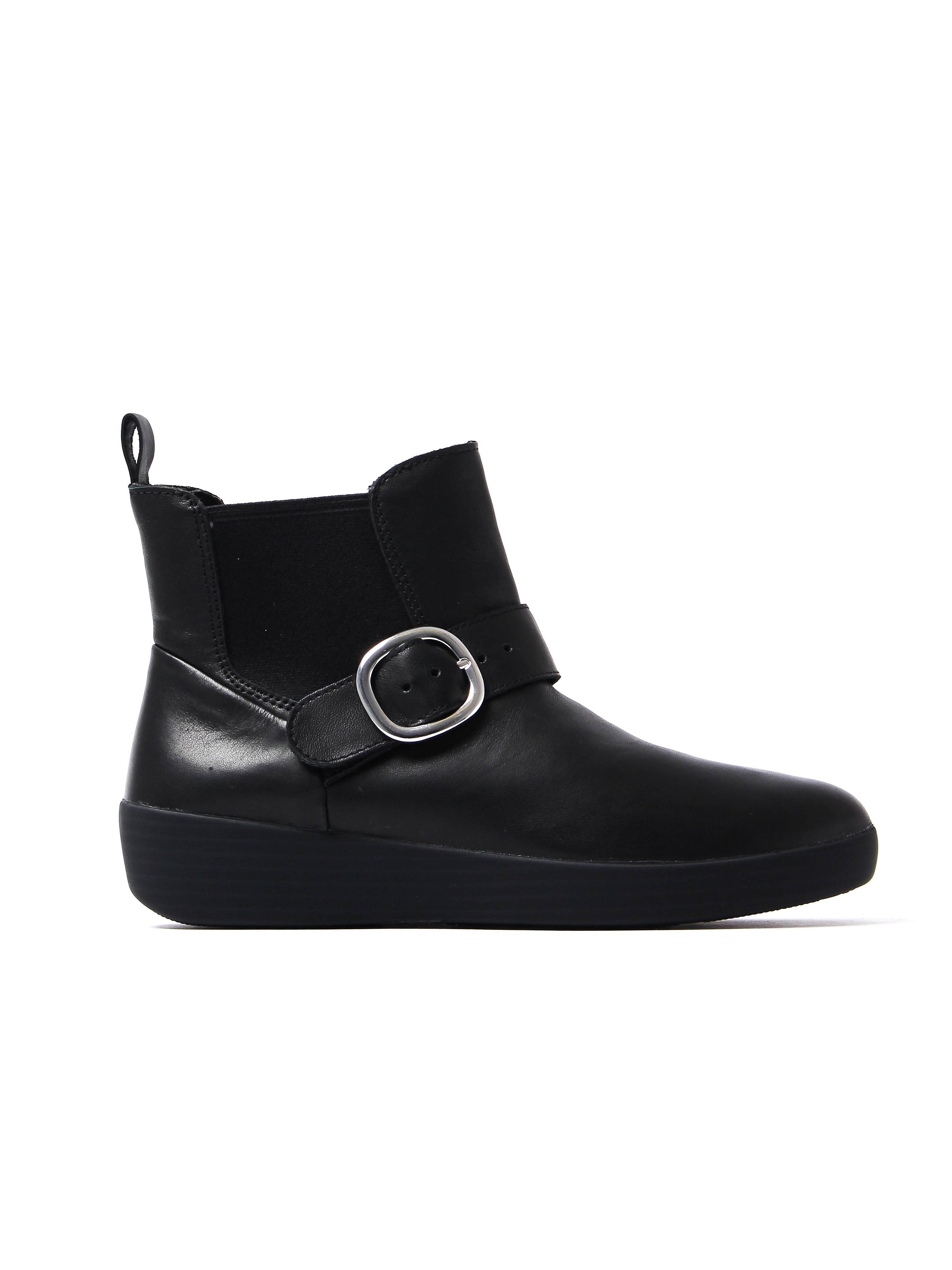 FitFlop Women's Superbuckle Chelsea Boots - Black Leather