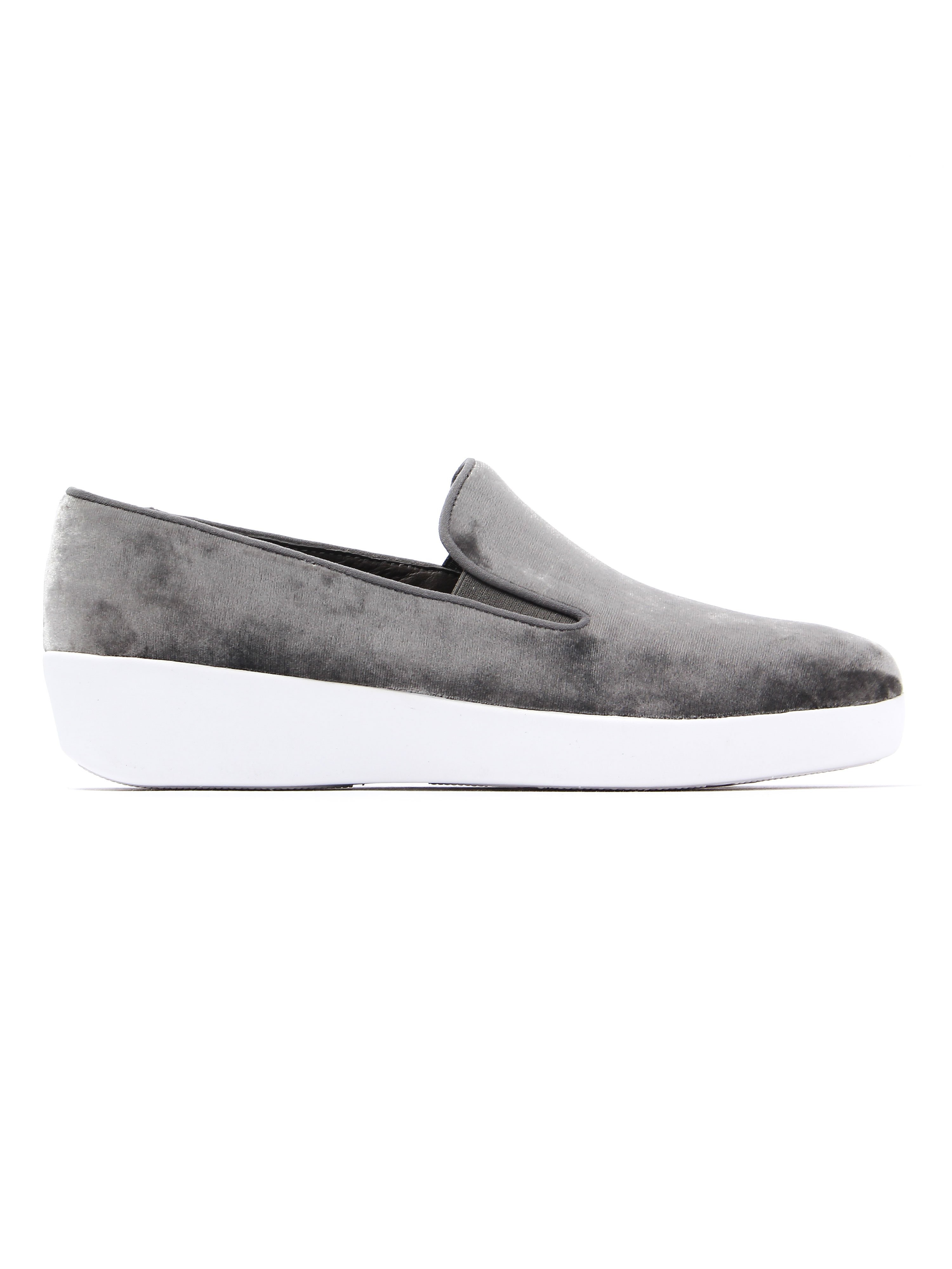 FitFlop Women's Superskate Loafers - Silver Velvet