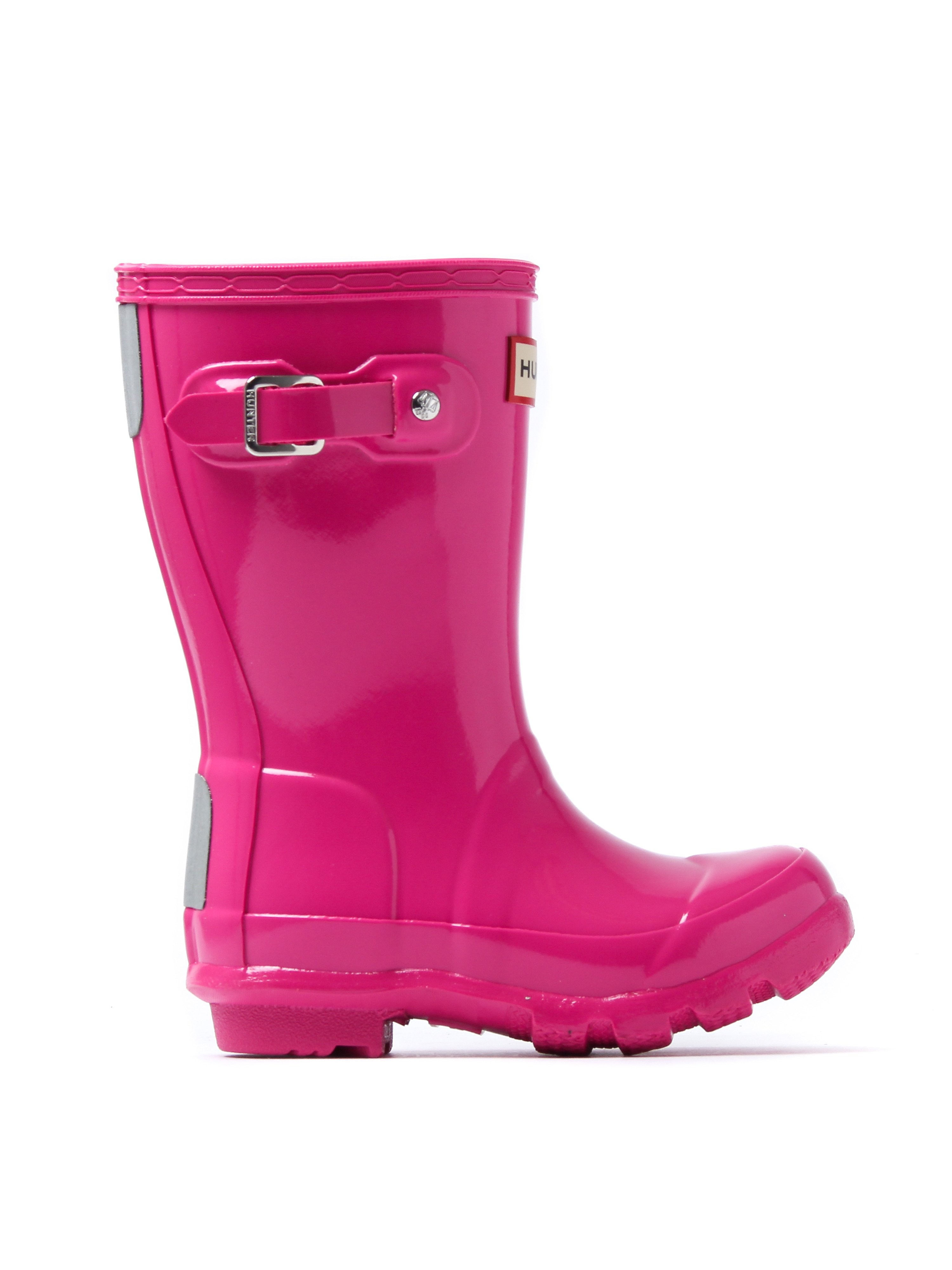 Hunter Wellies Infant Originals Gloss Wellington Boots - Lipstick