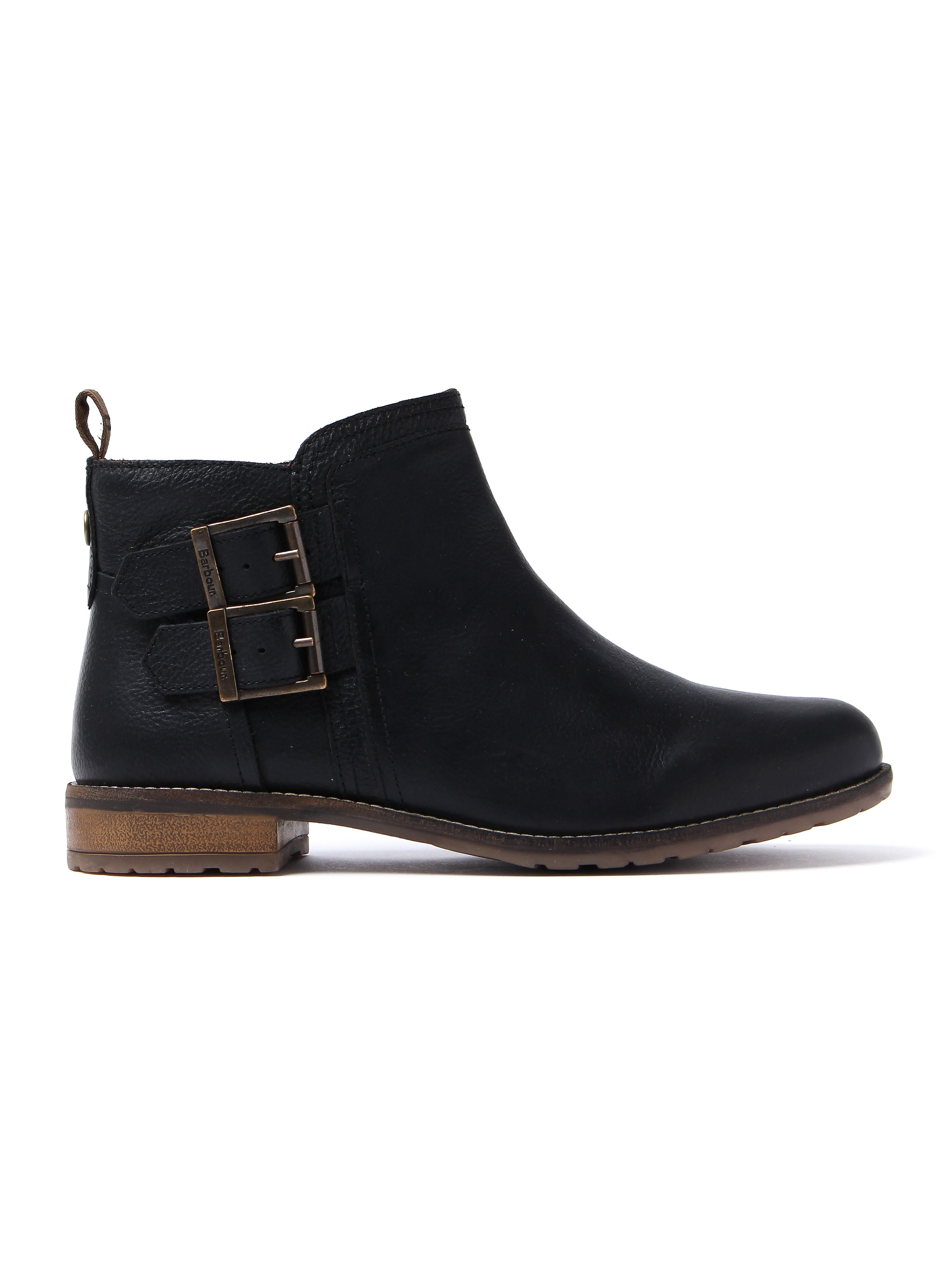 Barbour Women's Sarah Low Buckle Boots - Black Nubuck