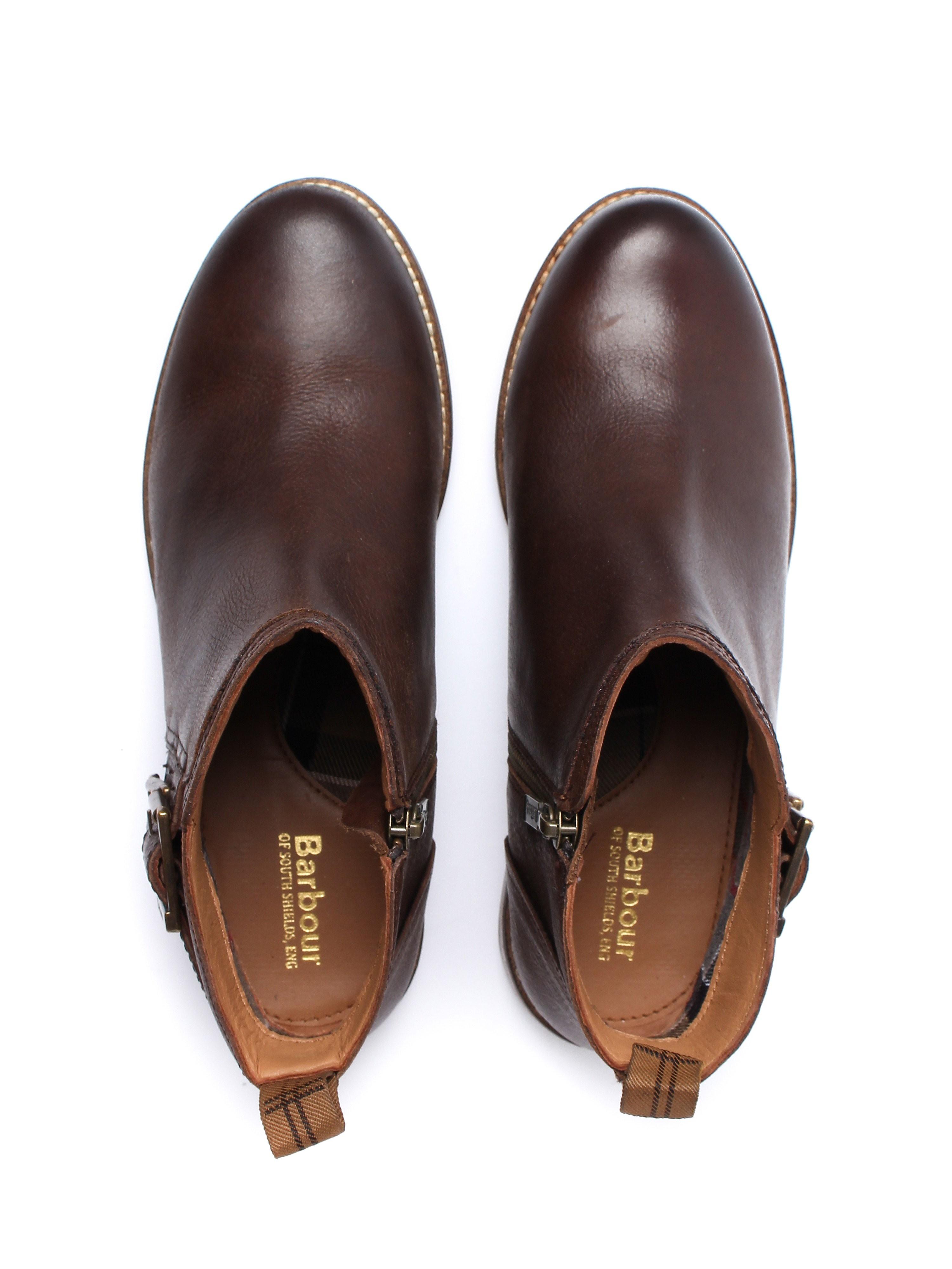 Barbour Women's Sarah Low Buckle Boots - Brown Nubuck