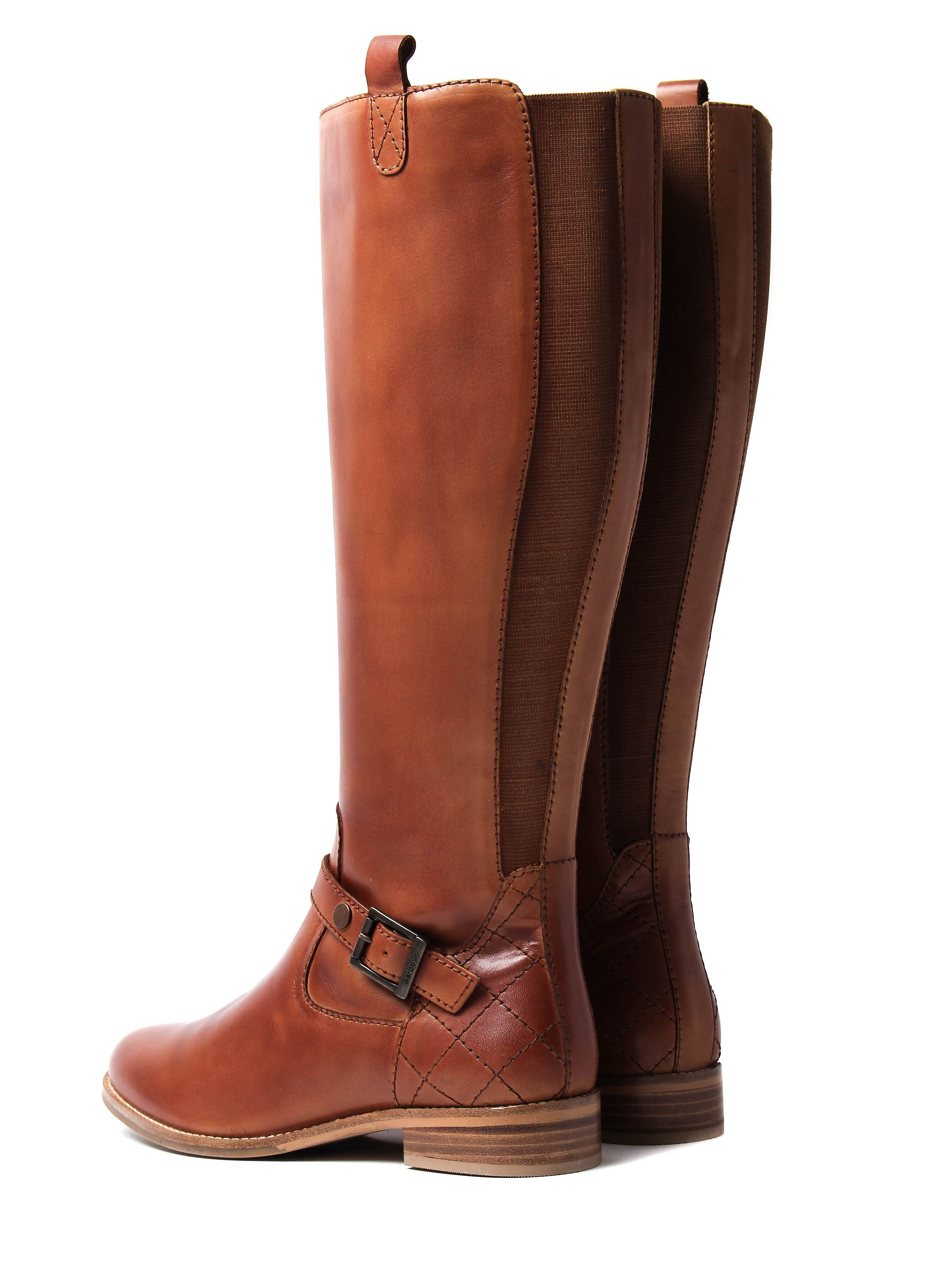 Barbour Women's Georgia Tall Boots - Tan Leather