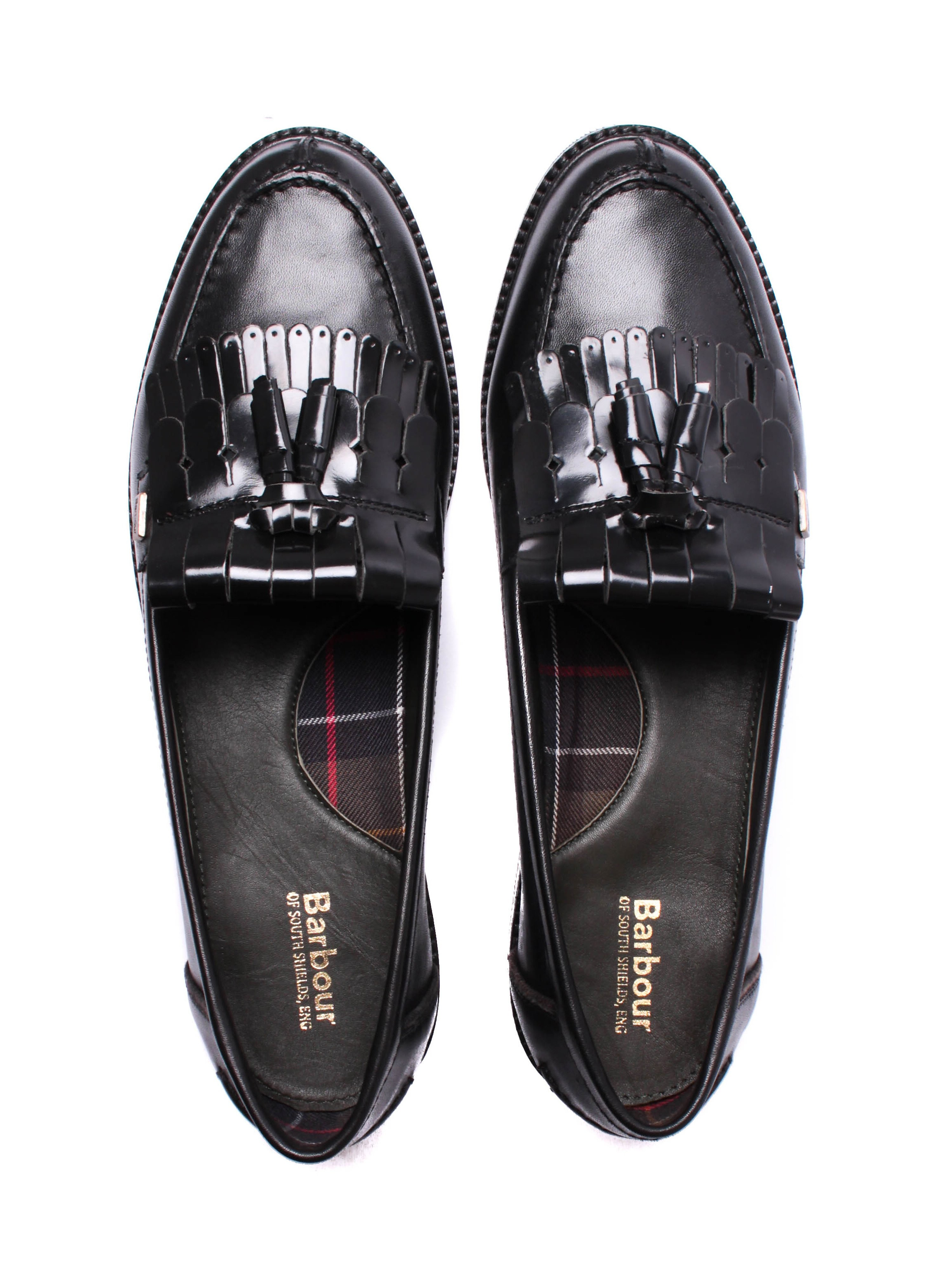 Barbour Women's Olivia Oiled Leather Tassel Loafers - Black