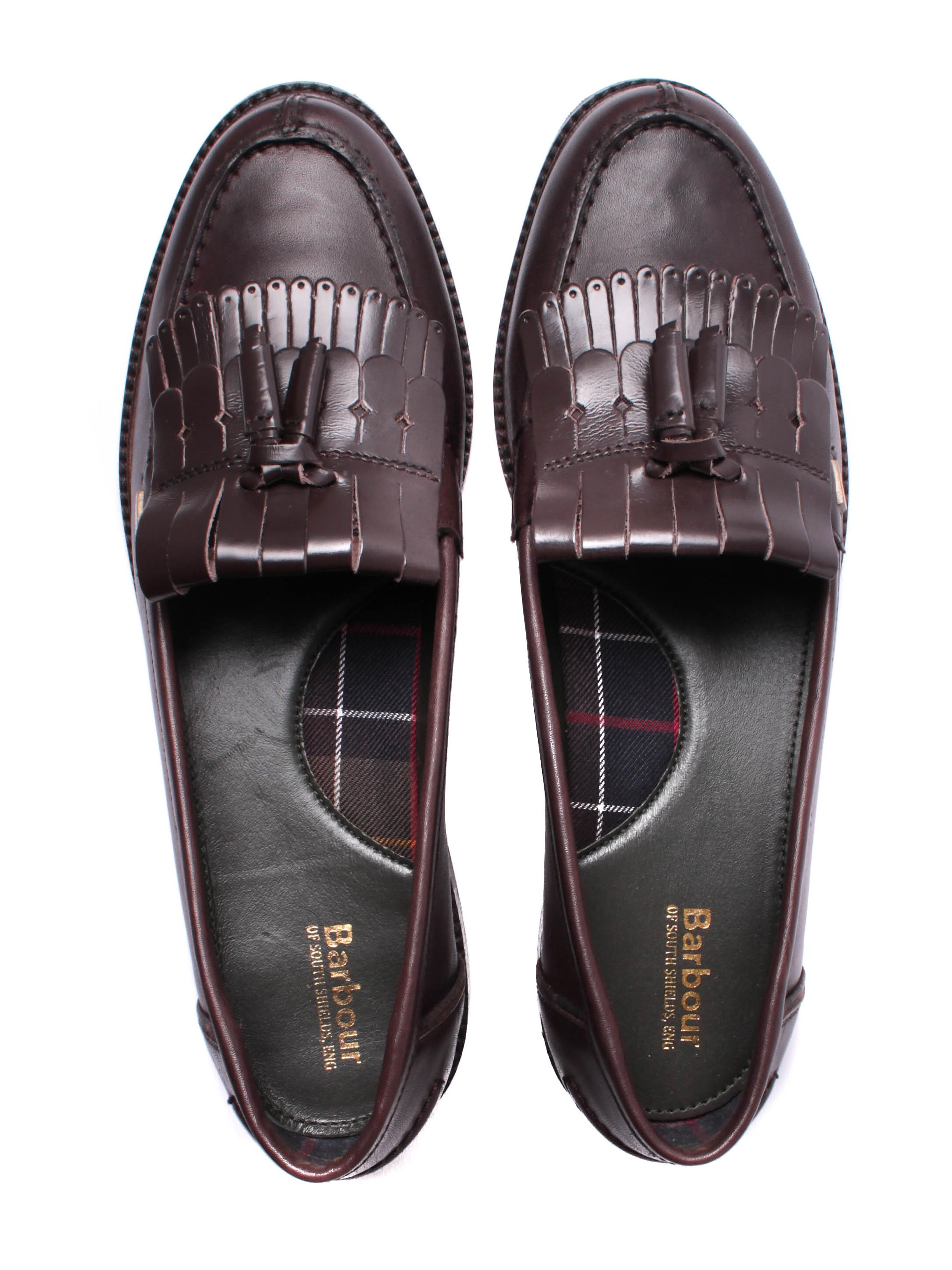 Barbour Women's Olivia Oiled Leather Tassel Loafers - Brown