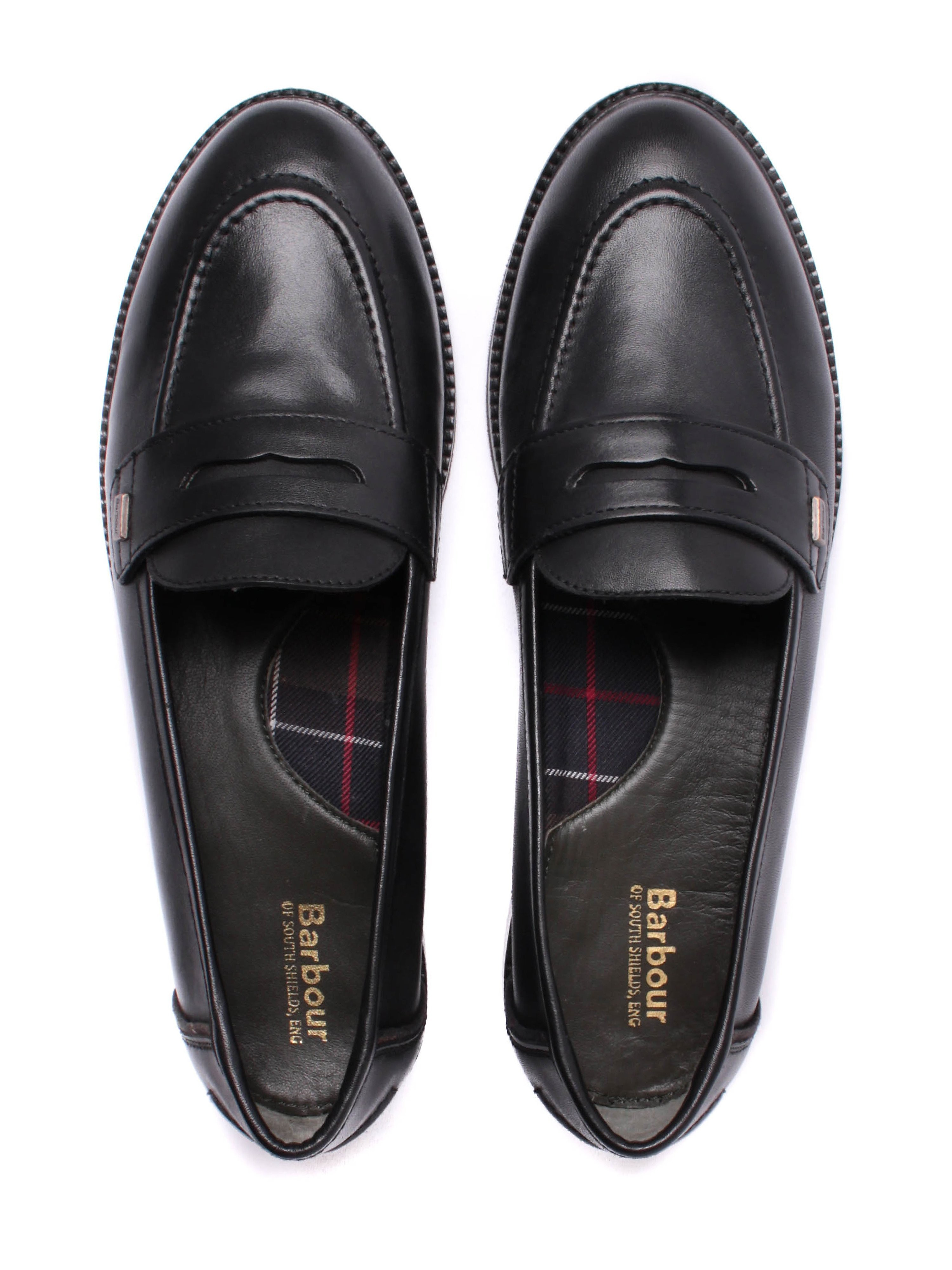 Barbour Women's Elaina Soft Leather Penny Loafers - Black
