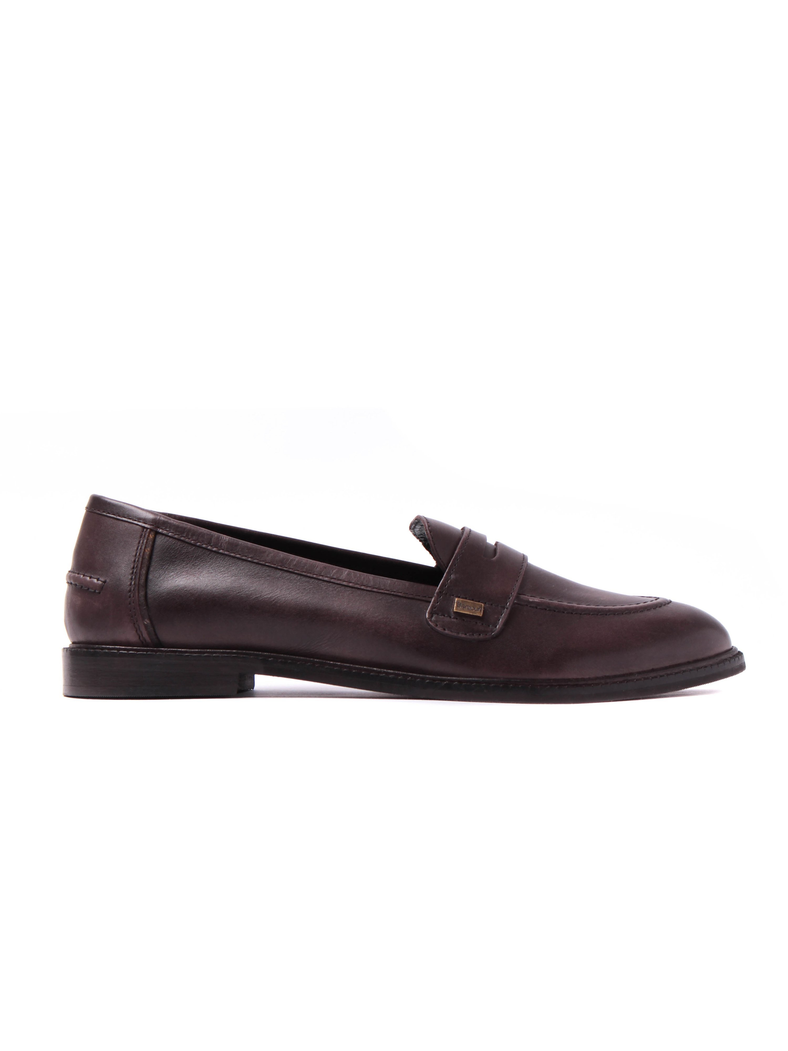 Barbour Women's Elaina Soft Leather Penny Loafers - Brown
