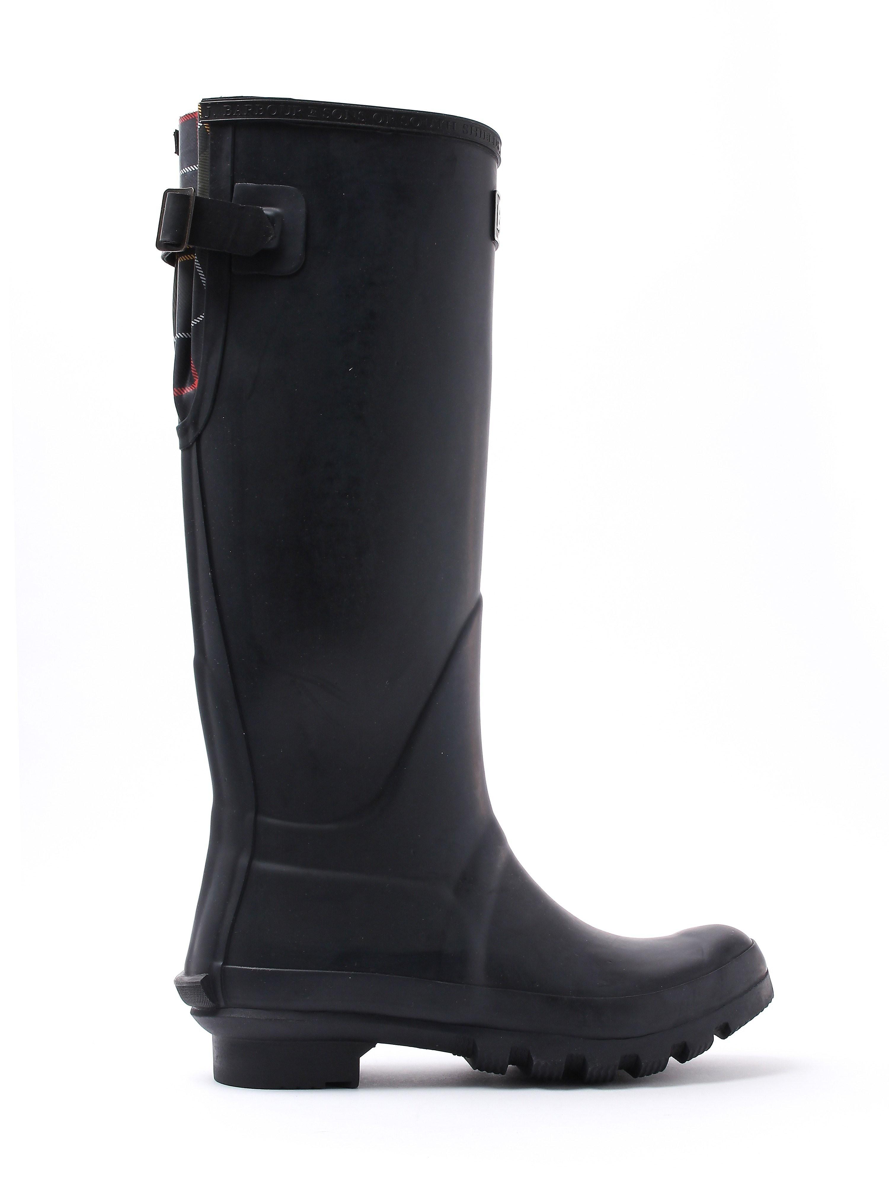 Barbour Women's Jarrow Tall Rubber Wellington Boots - Black