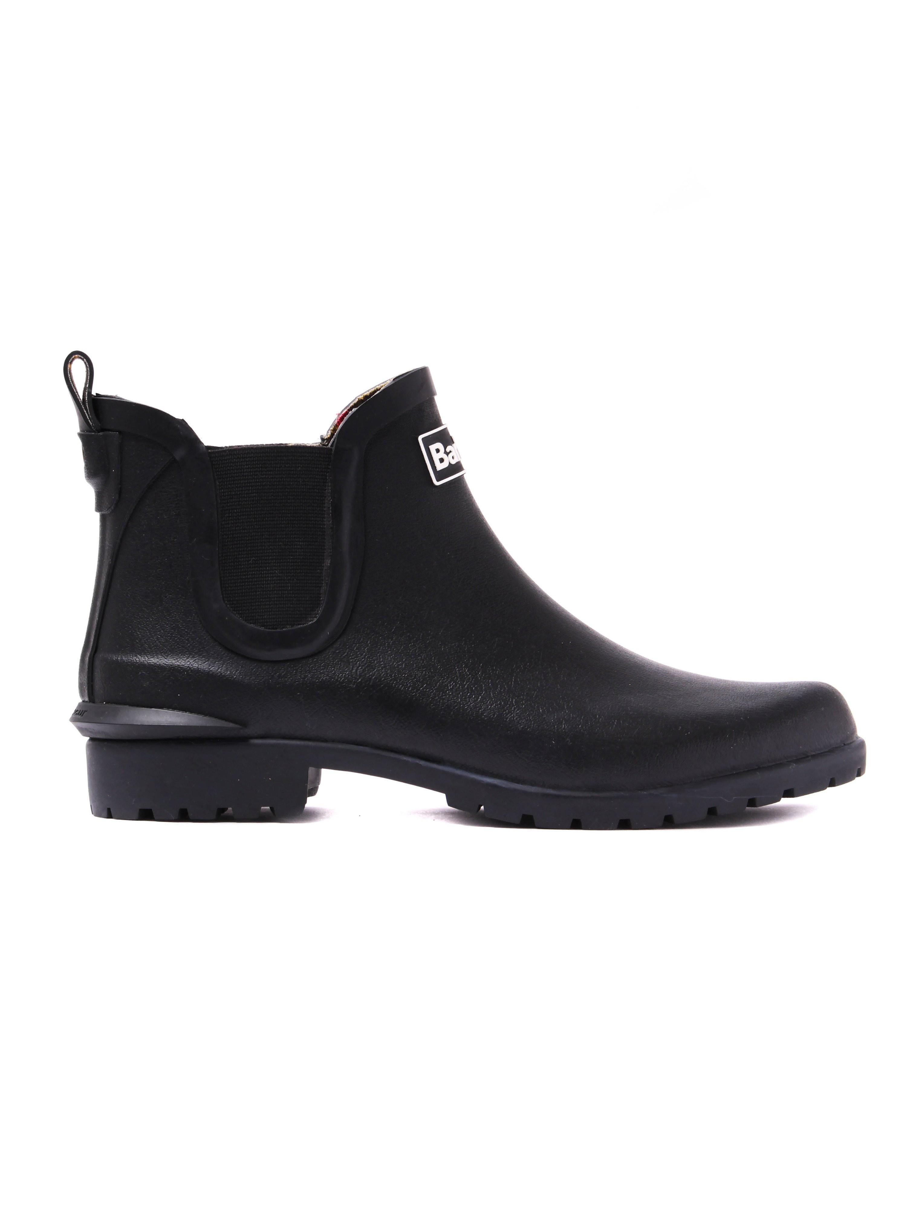 Barbour Women's Wilton Rubber Wellington Ankle Boot - Black