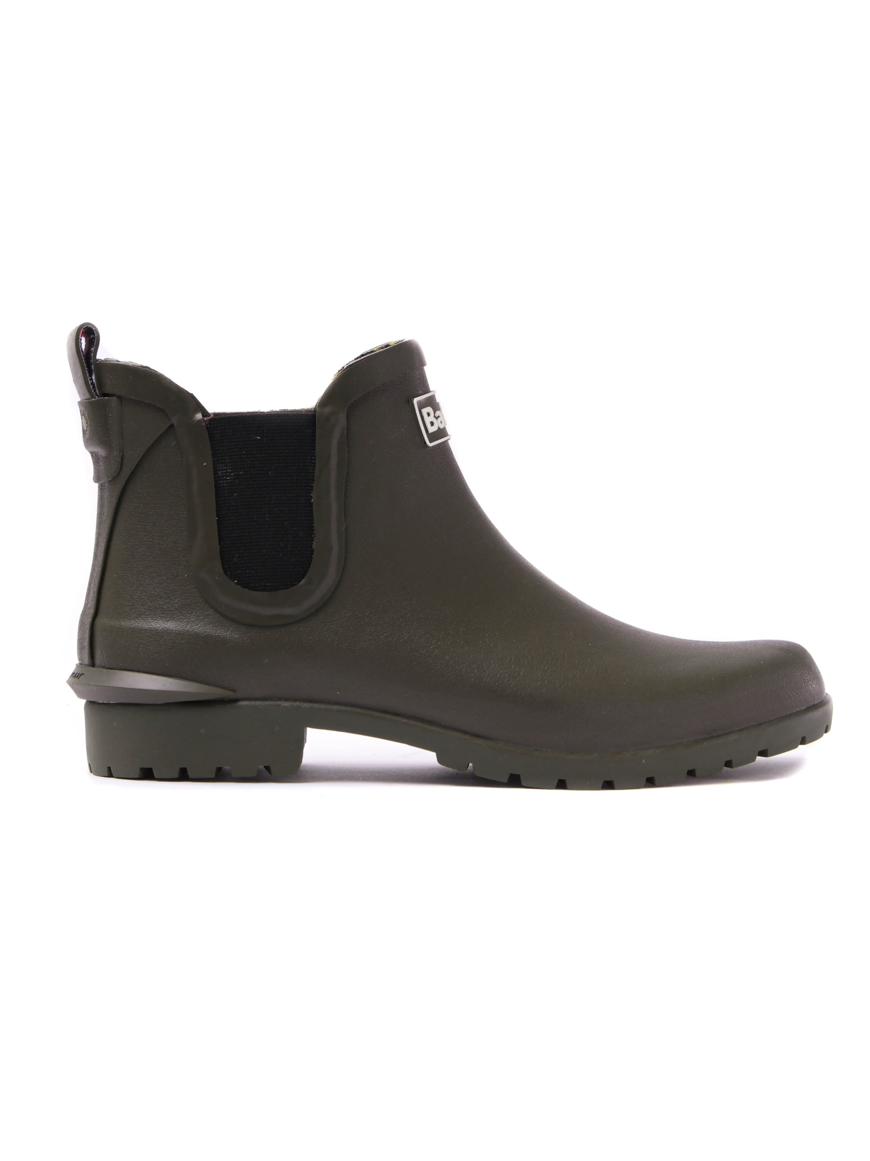 Barbour Women's Wilton Rubber Wellington Ankle Boot - Olive
