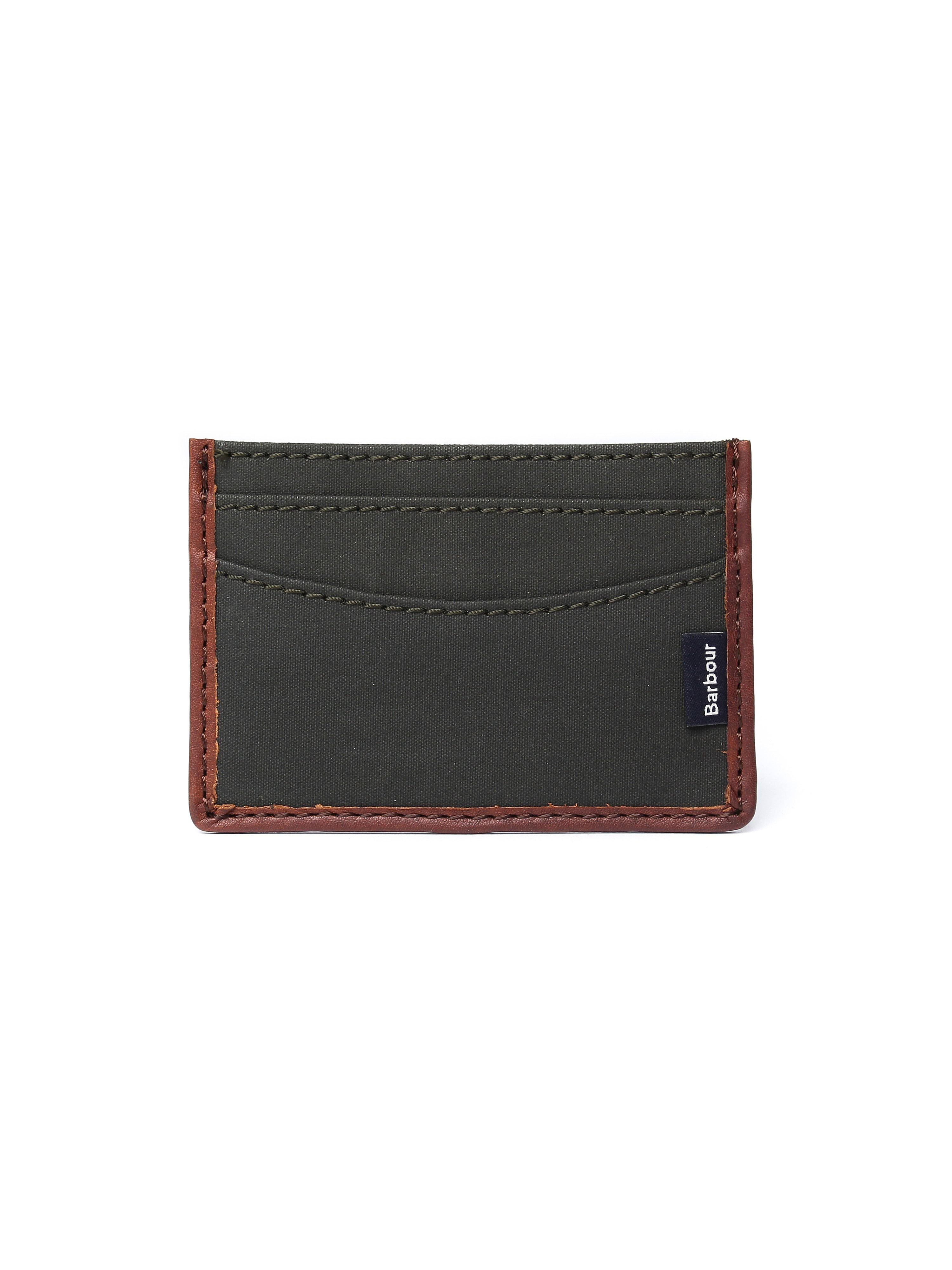 Barbour Men's Dry Wax Card Holder - Olive