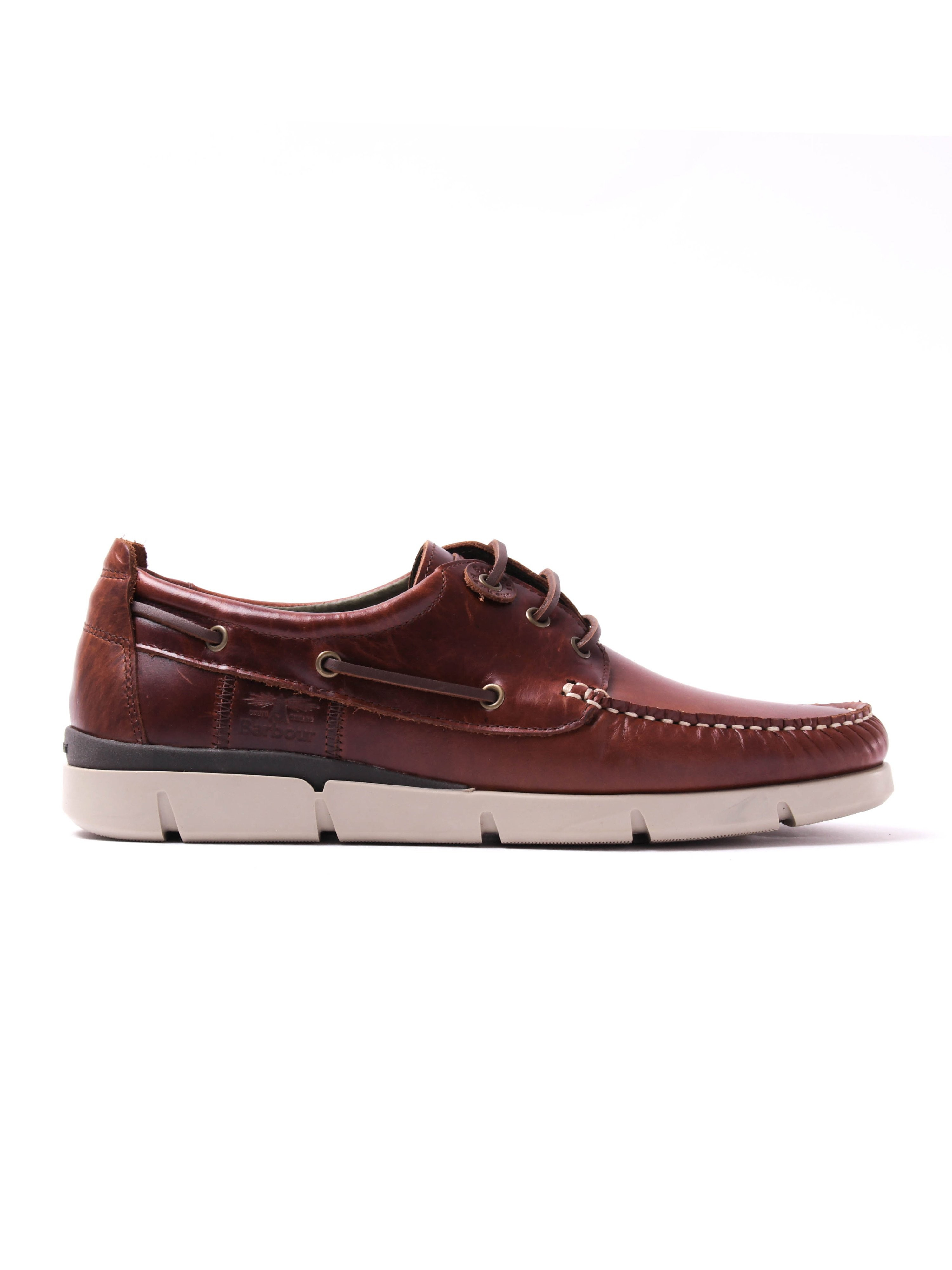 Barbour Men's George Oiled Leather Boat Shoes - Brown