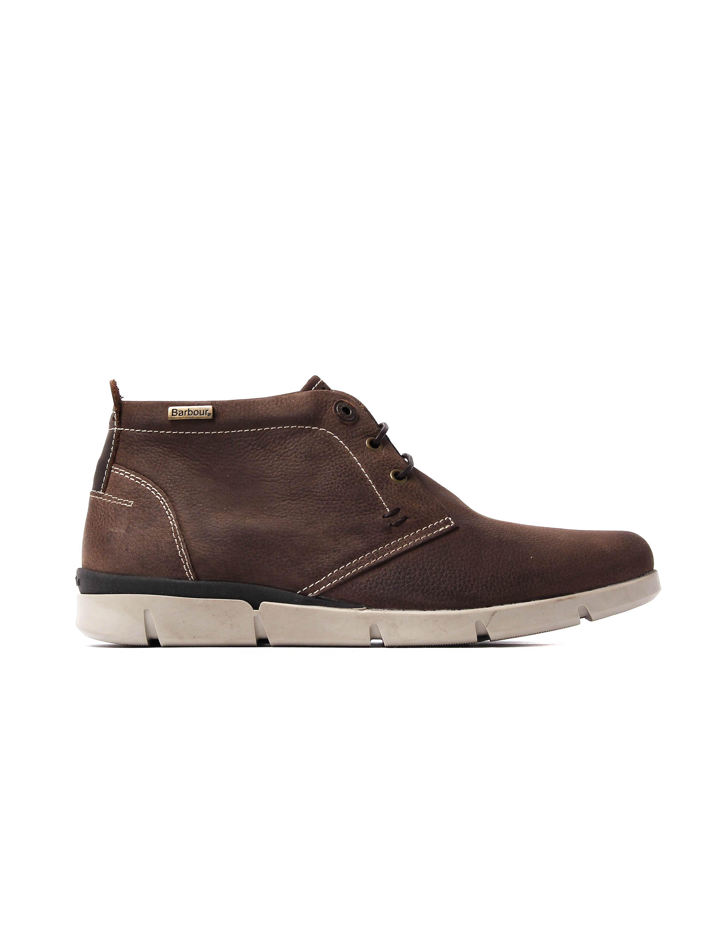 Barbour Men's Collier Chukka Boots - Dark Brown Nubuck