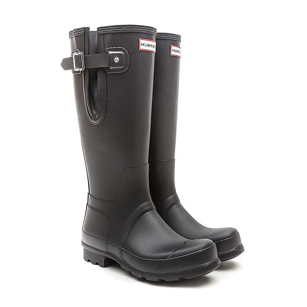 Hunter Wellies Men's Original Side Adjustable Wellington Boots - Black