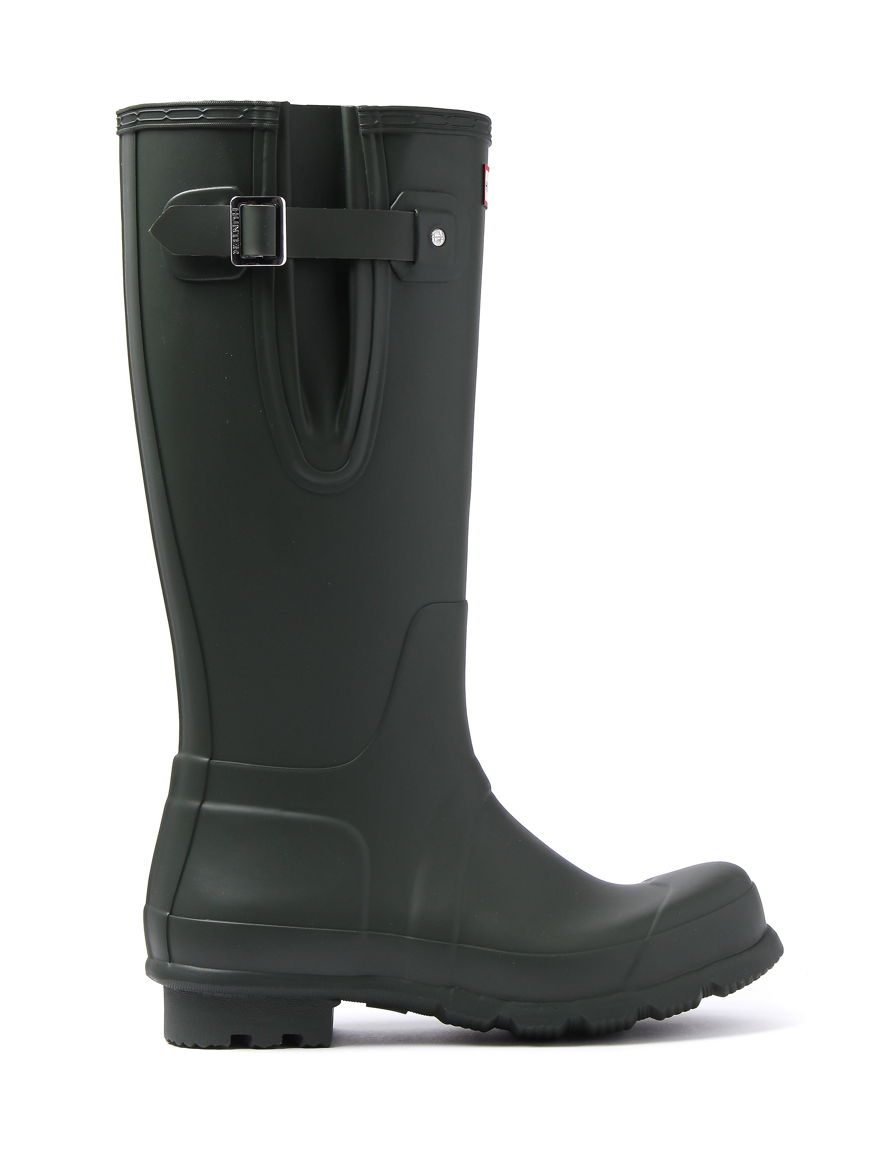 Hunter Wellies Men's Original Side Adjustable Wellington Boots - Dark Olive