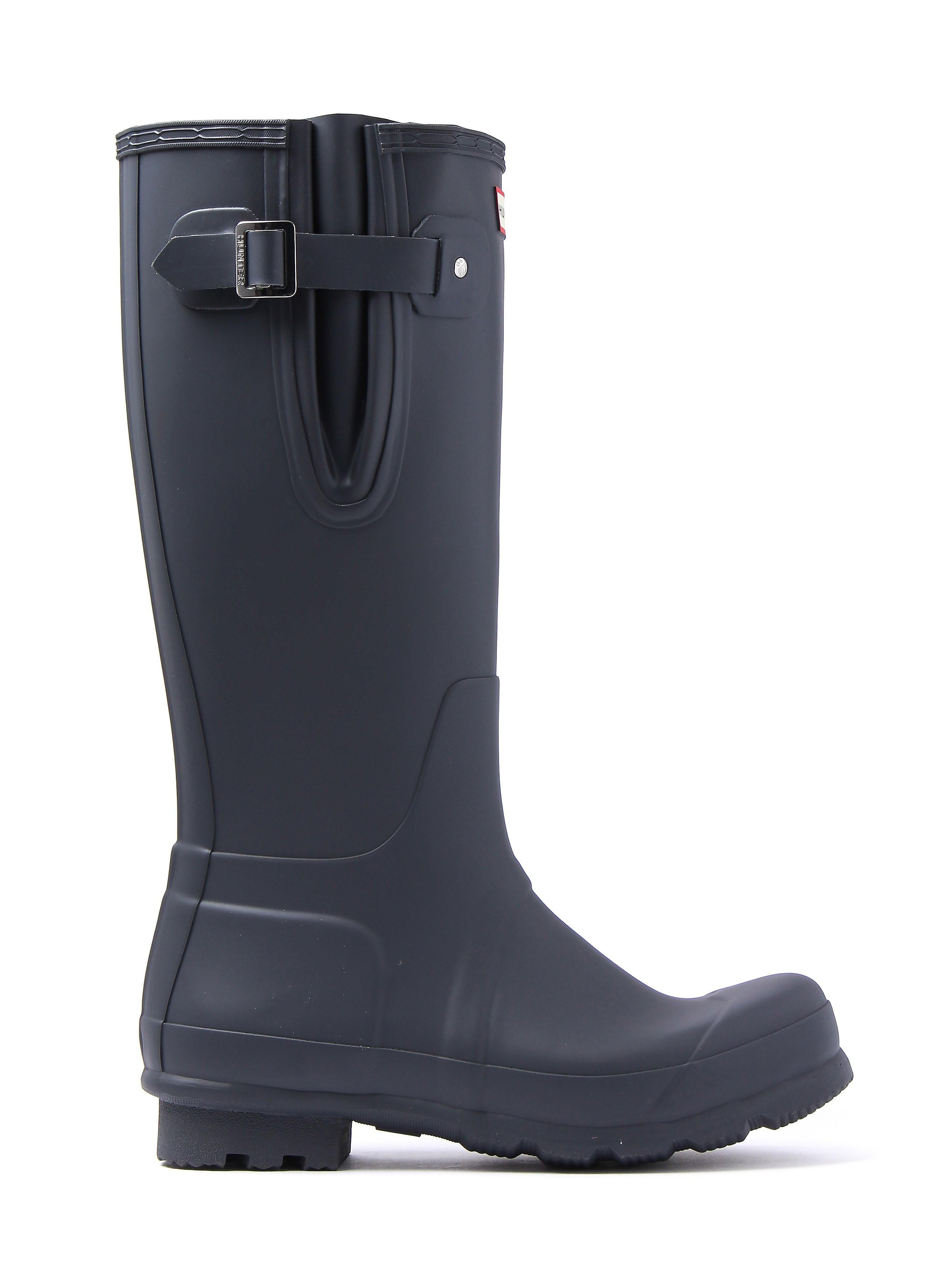 Hunter Wellies Men's Original Side Adjustable Wellington Boots - Dark Slate