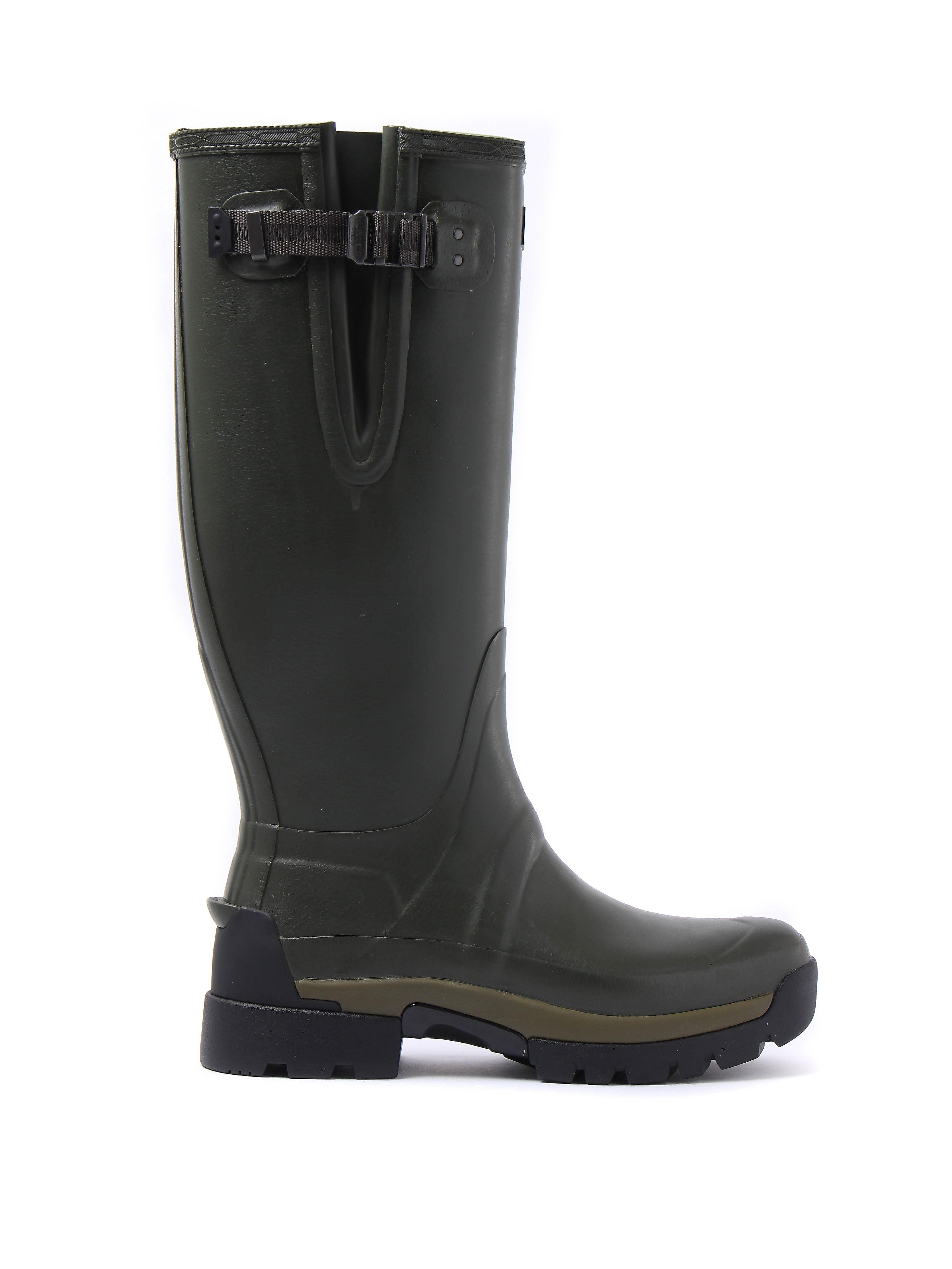 Hunter Wellies Men's Balmoral Tall Adjustable  Wellington Boots - Dark Olive