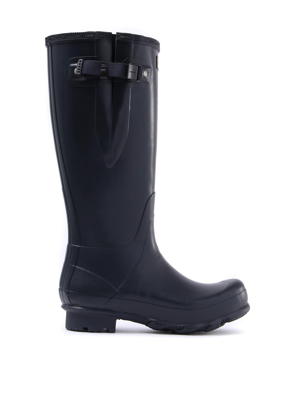 Hunter Wellies Men's Norris Field Adjustable Wellington Boots - Navy