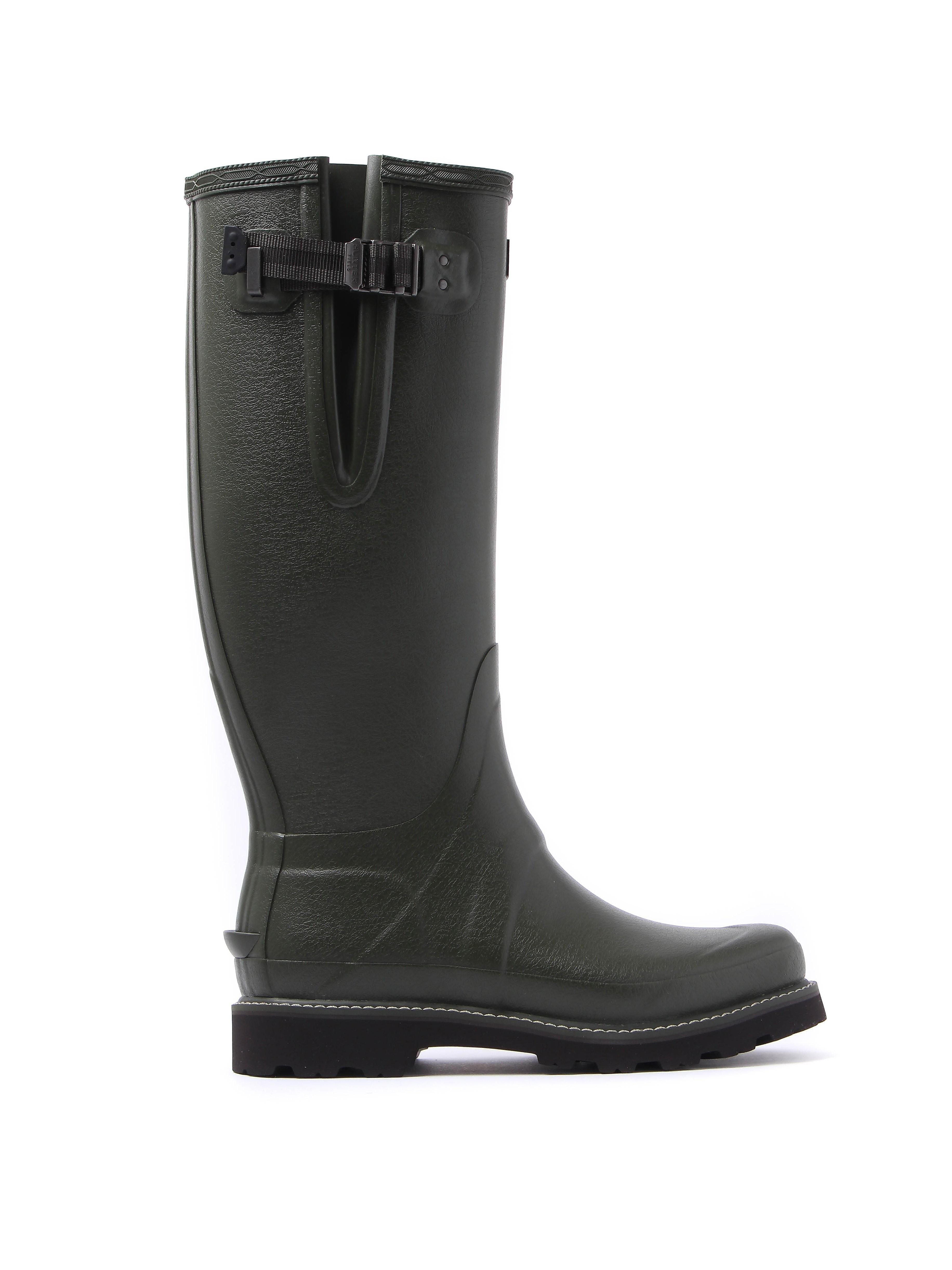 Hunter Wellies Men's Balmoral Sovereign Adjustable Wellington Boots - Dark Olive