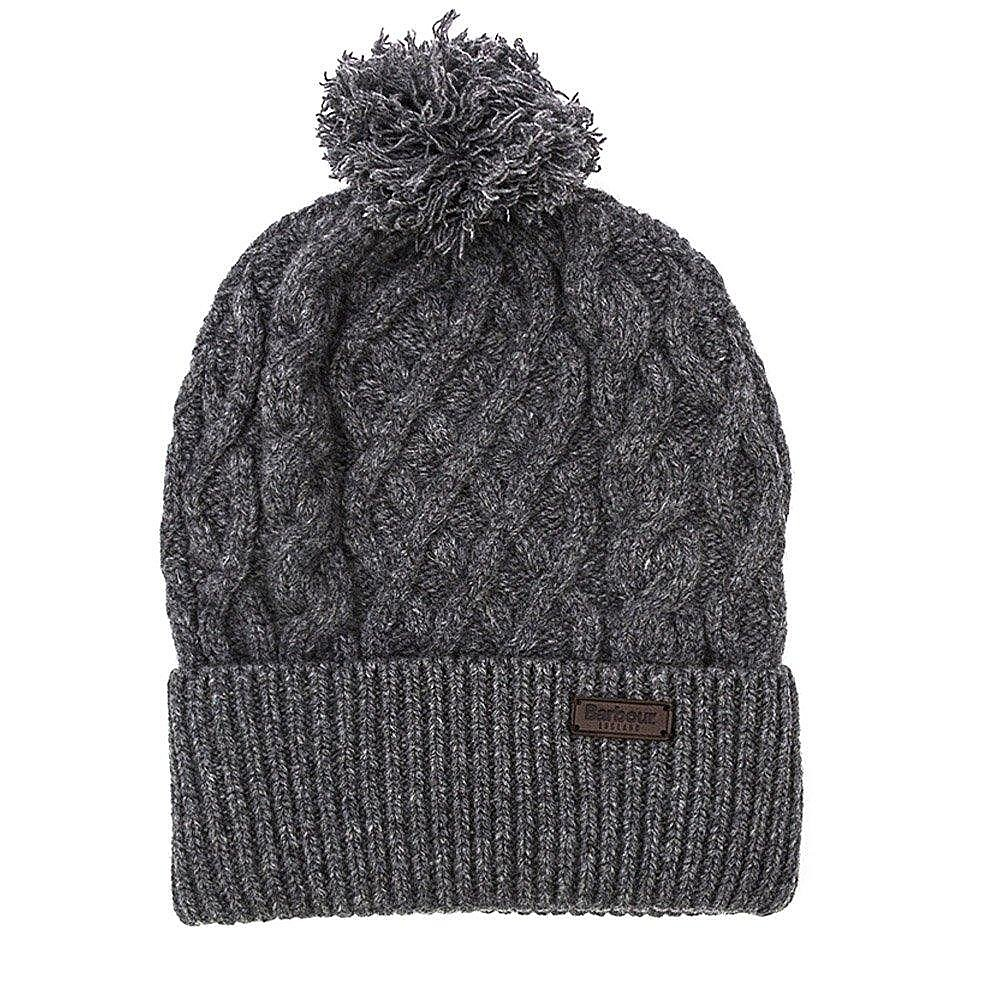 Barbour Cable Knit Beanie - Grey