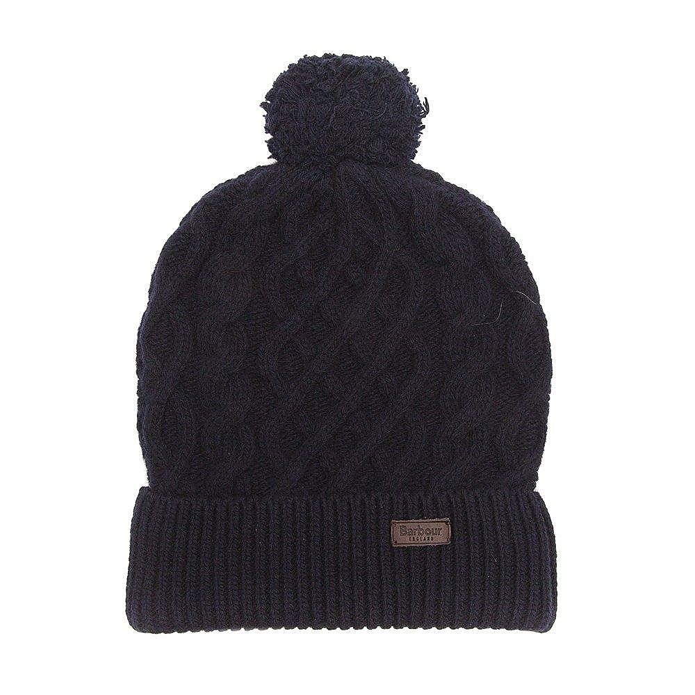 Barbour Cable Knit Beanie - Navy
