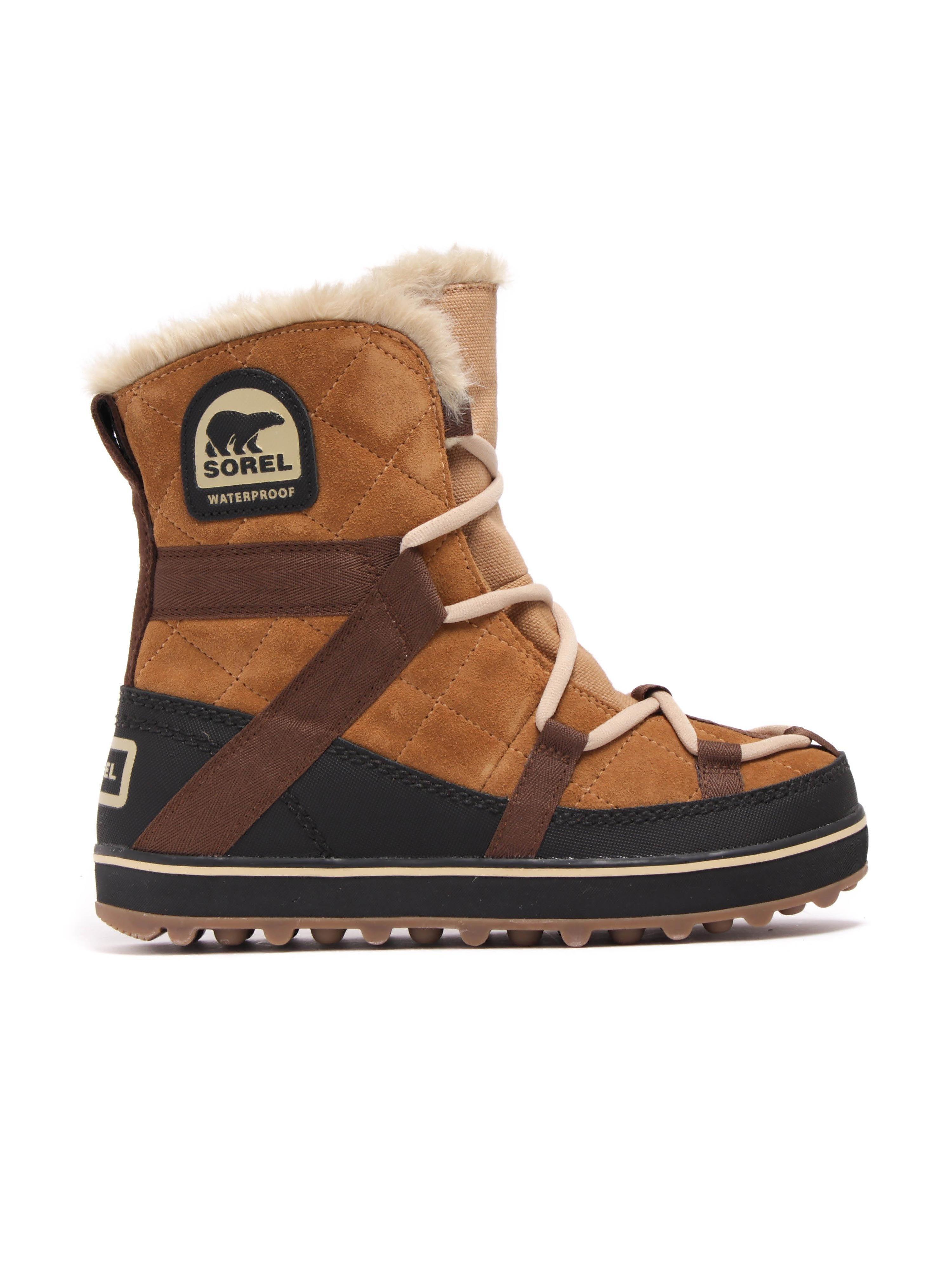 Sorel Women's Glacy Explorer Shortie Boots - Elk