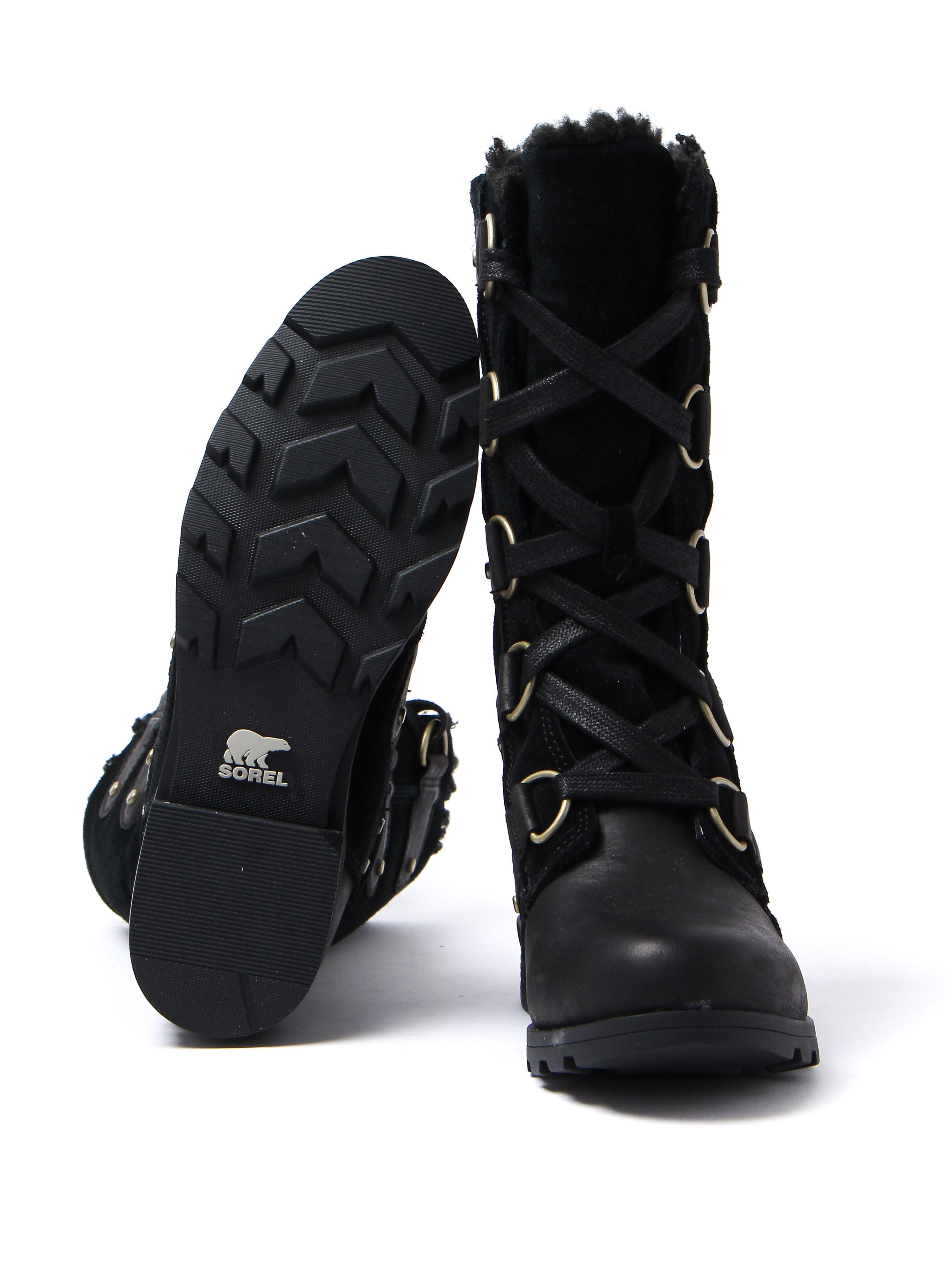 Sorel Women's Emelie Lace Boots - Black