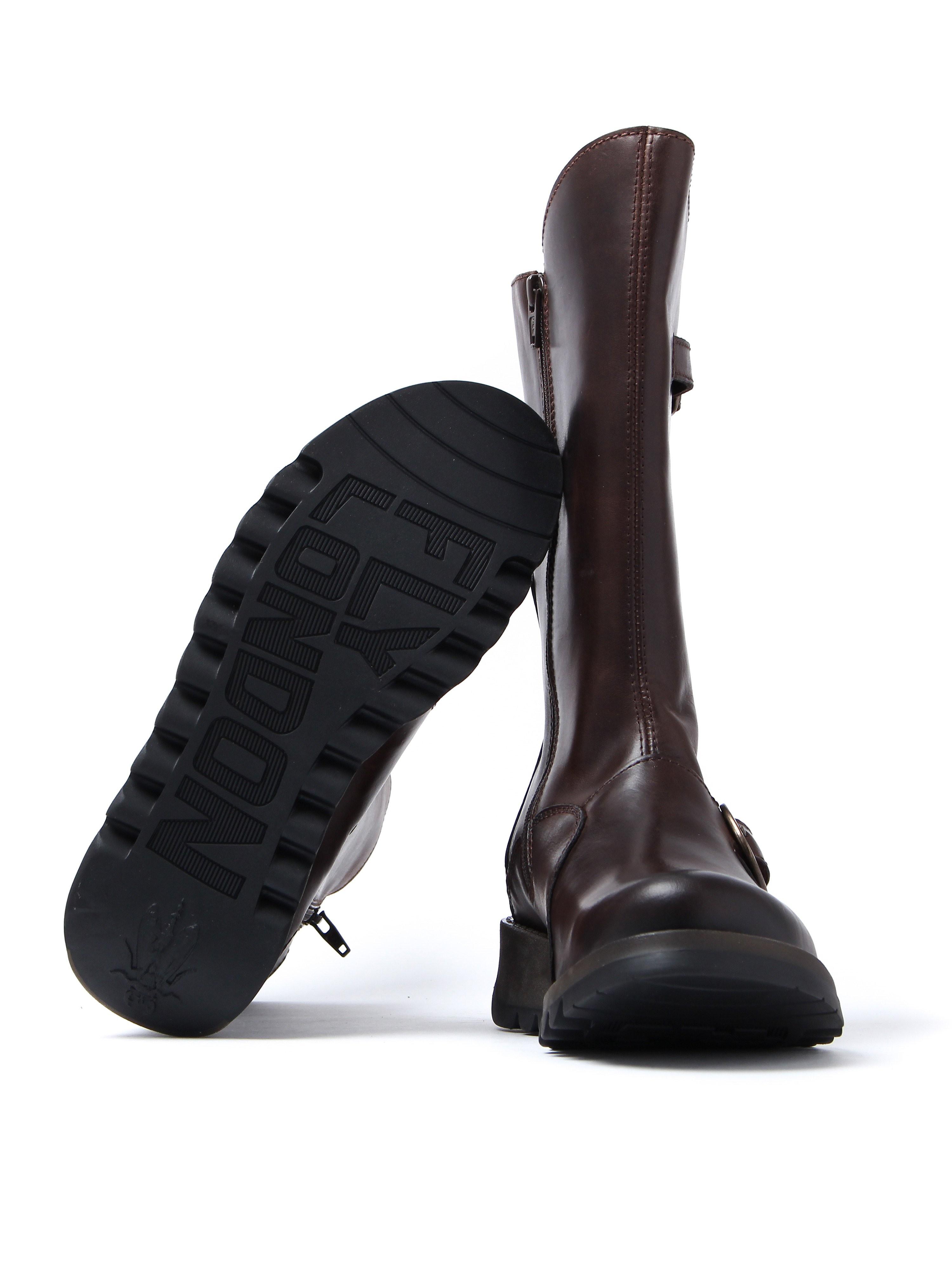 Fly London Women's Mes 2 Biker Boots - Dark Brown