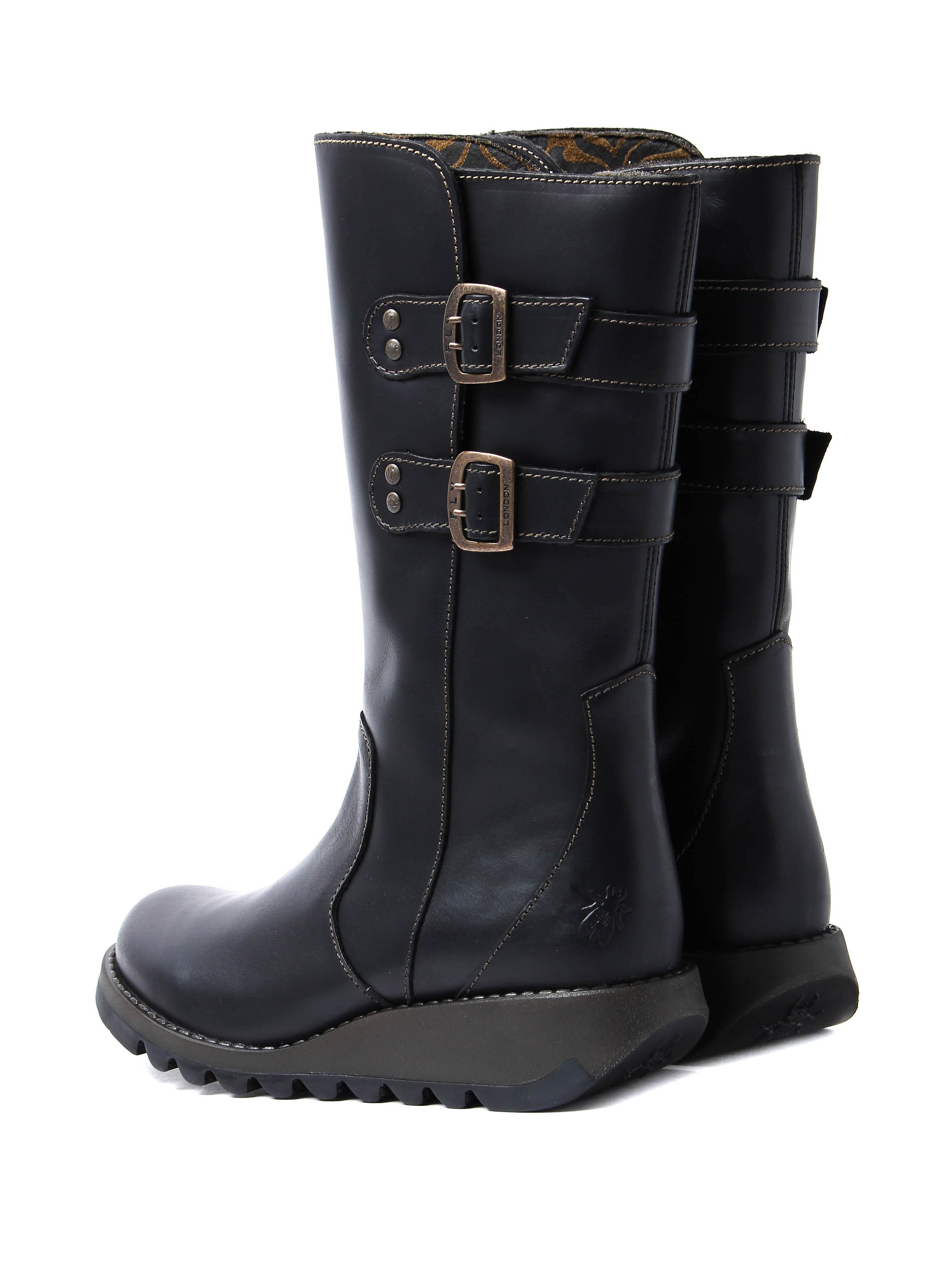 Fly London Women's Suli Mid Calf Boots - Black