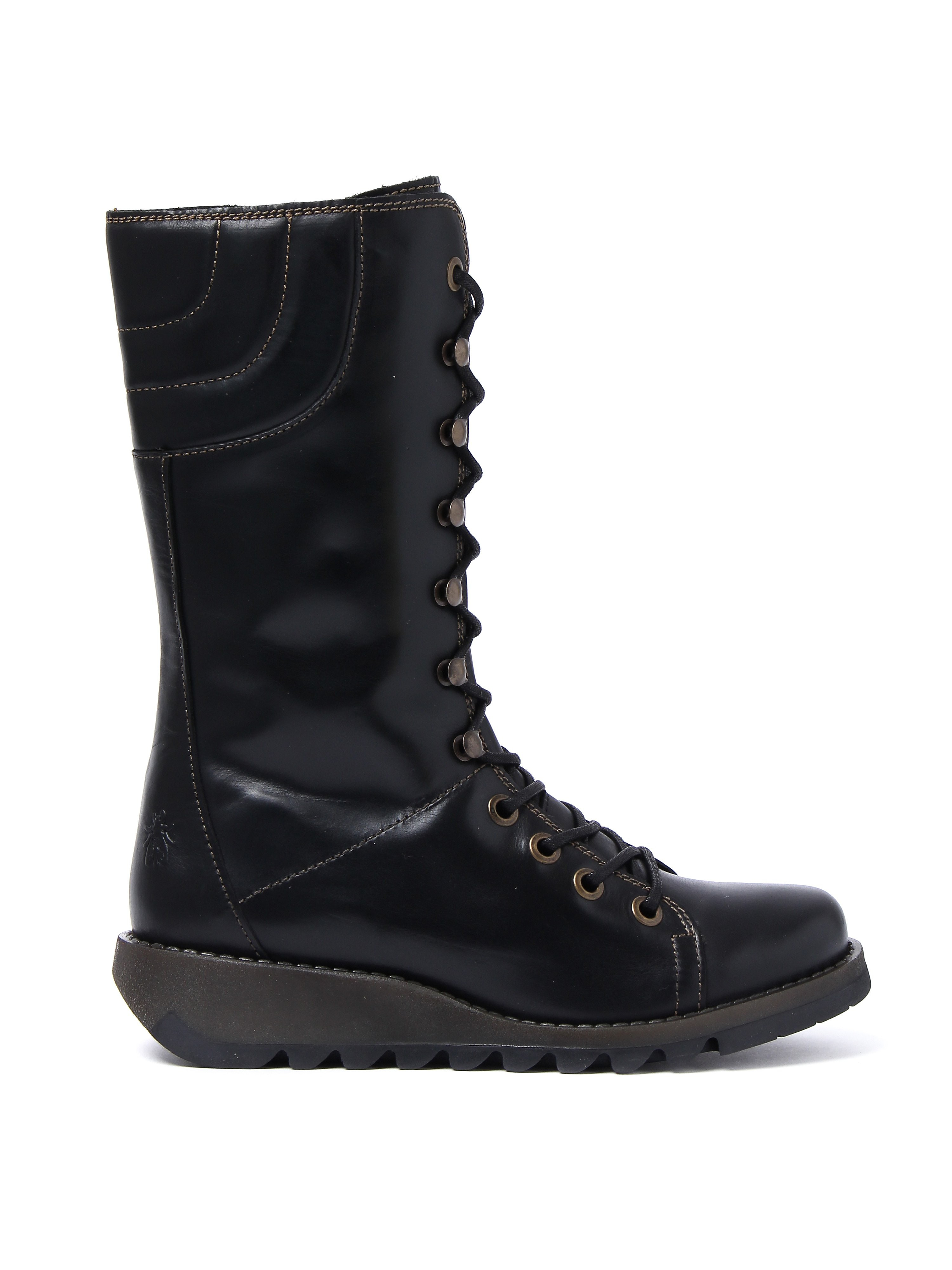 Fly London Women's Ster768fly Rug Boots - Black Leather