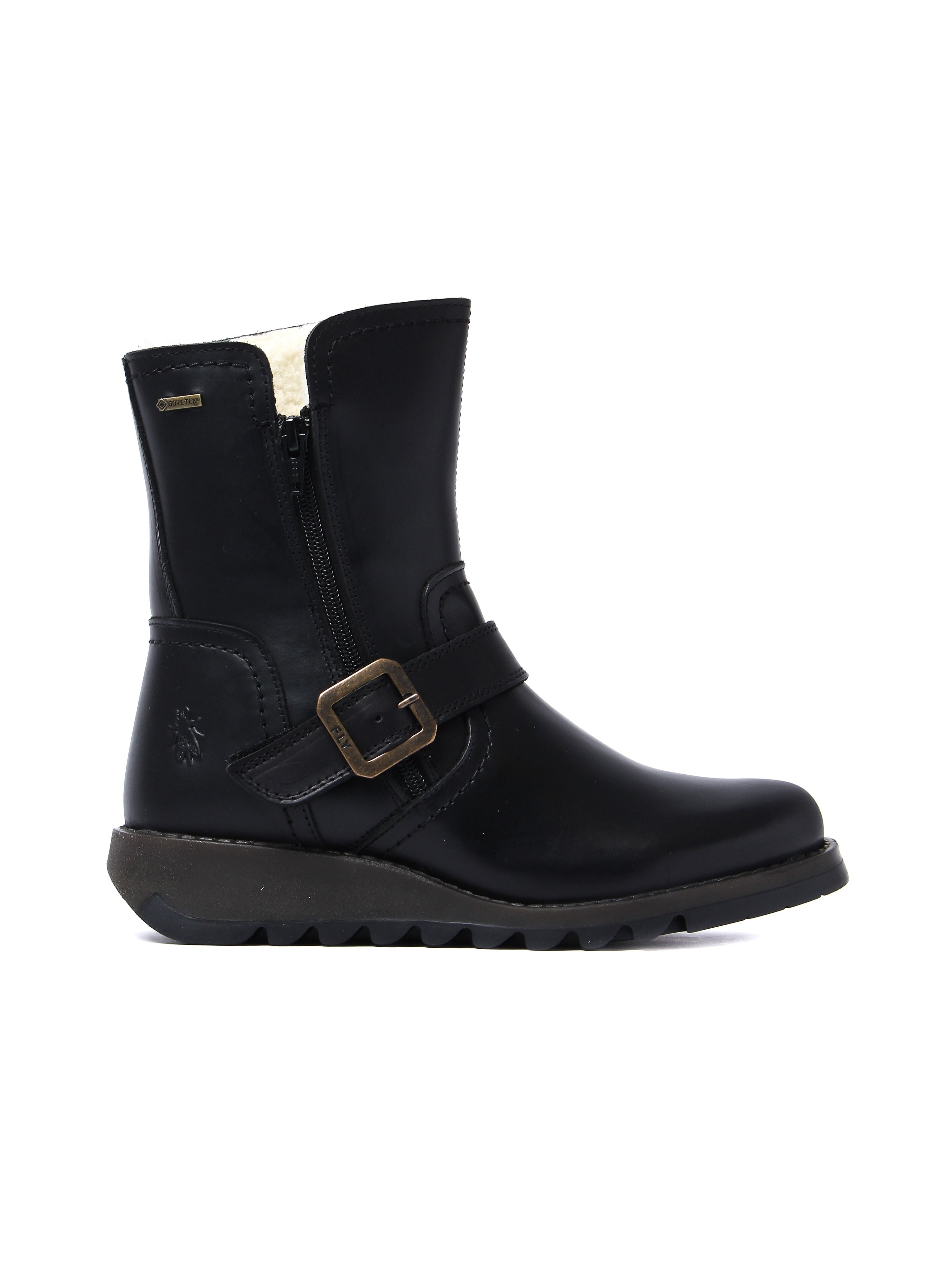 Fly London Women's Seku Gore-Tex Boots - Black Leather