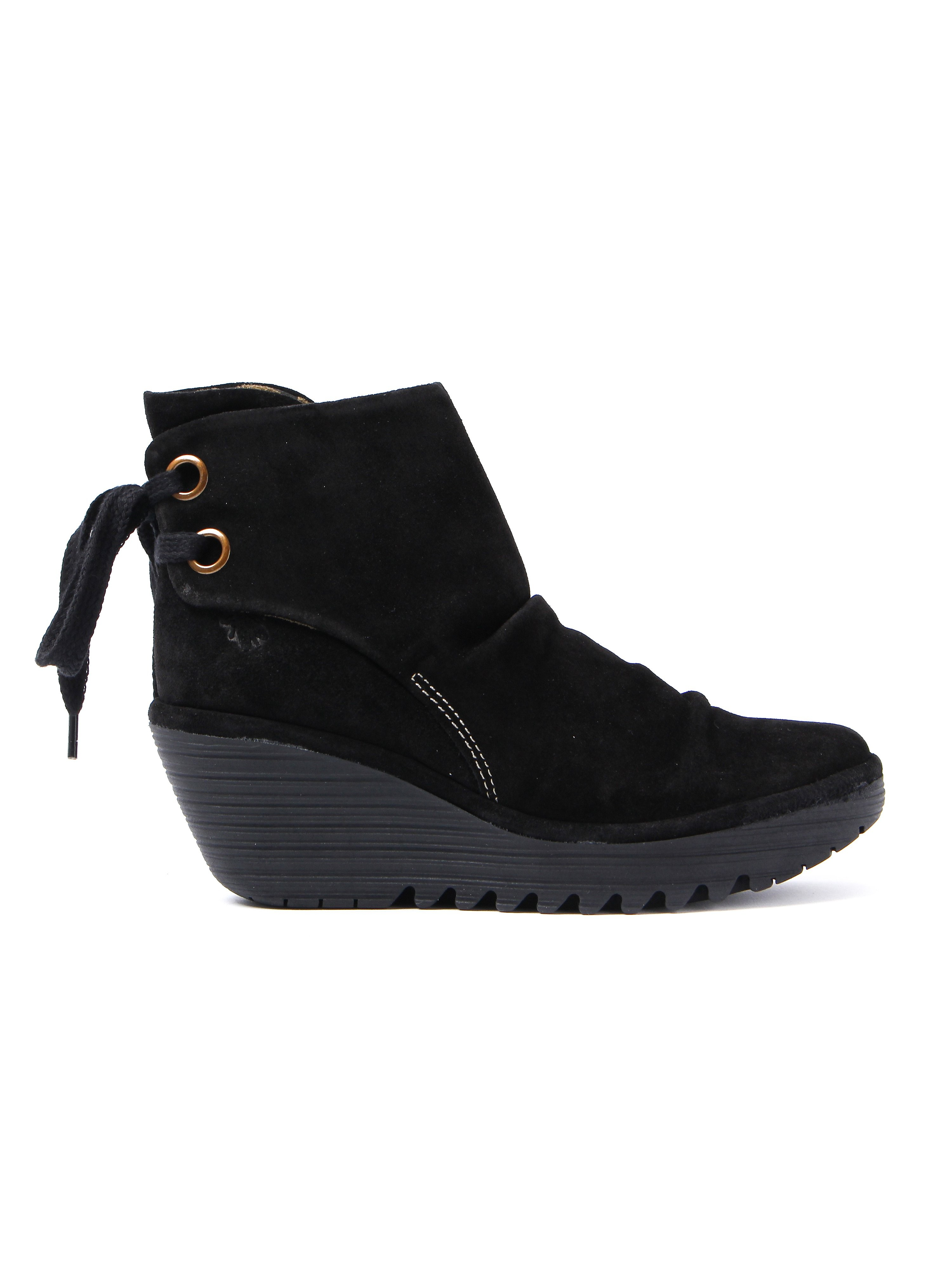 Fly London Women's Yama Ankle Boots - Oil Black Suede