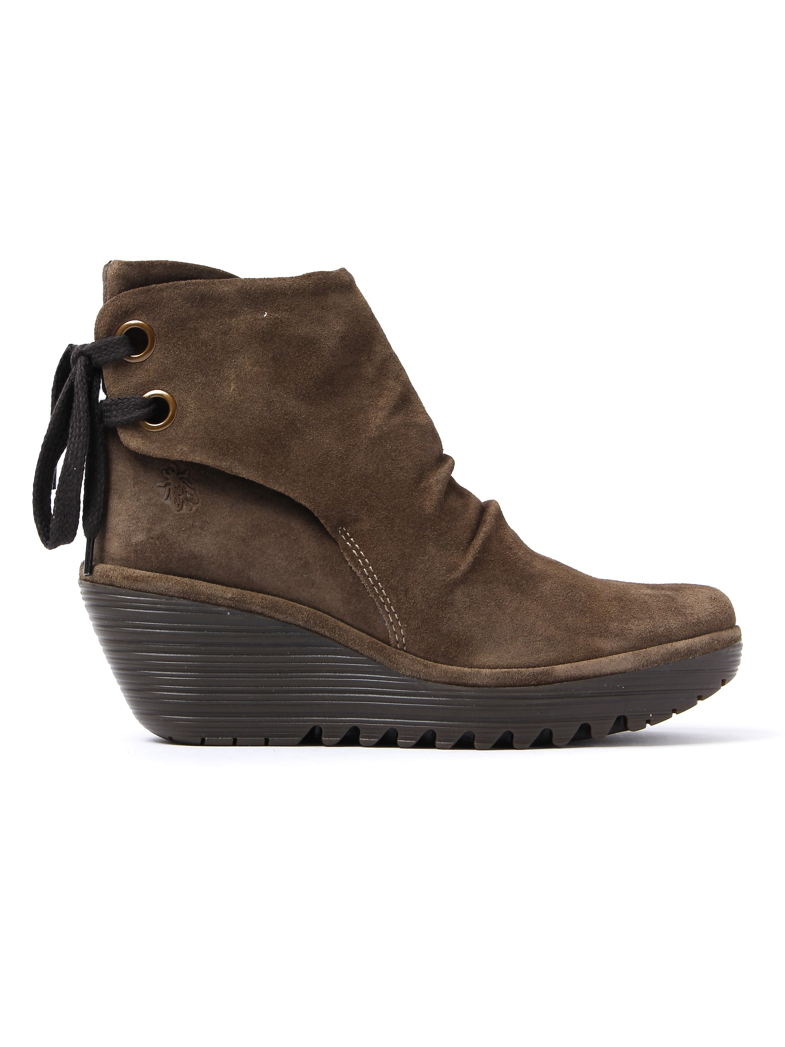 Fly London Women's Yama Ankle Boots - Oil Sludge Suede
