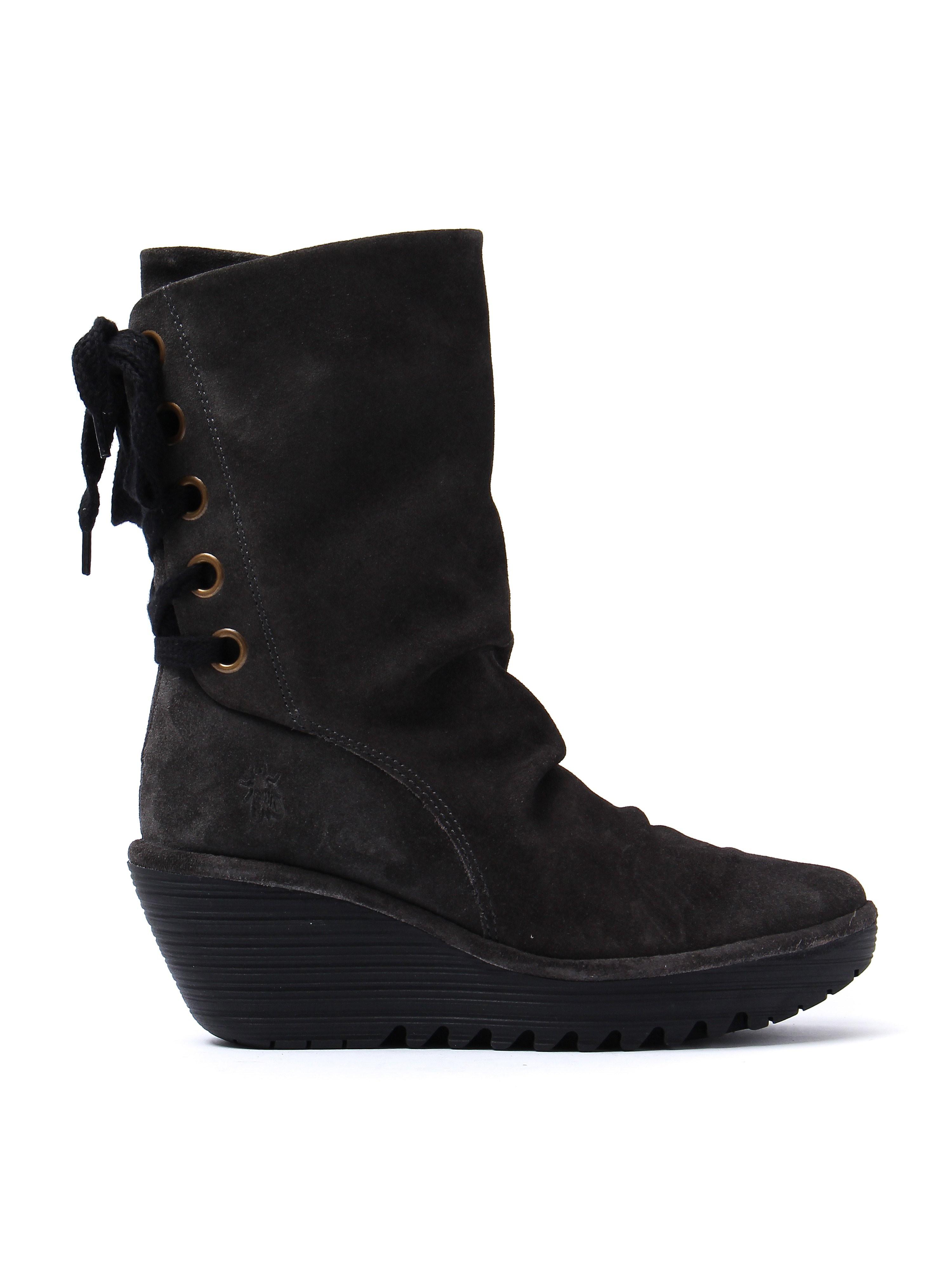 Fly London Women's Yada Tall Boots - Diesel Suede