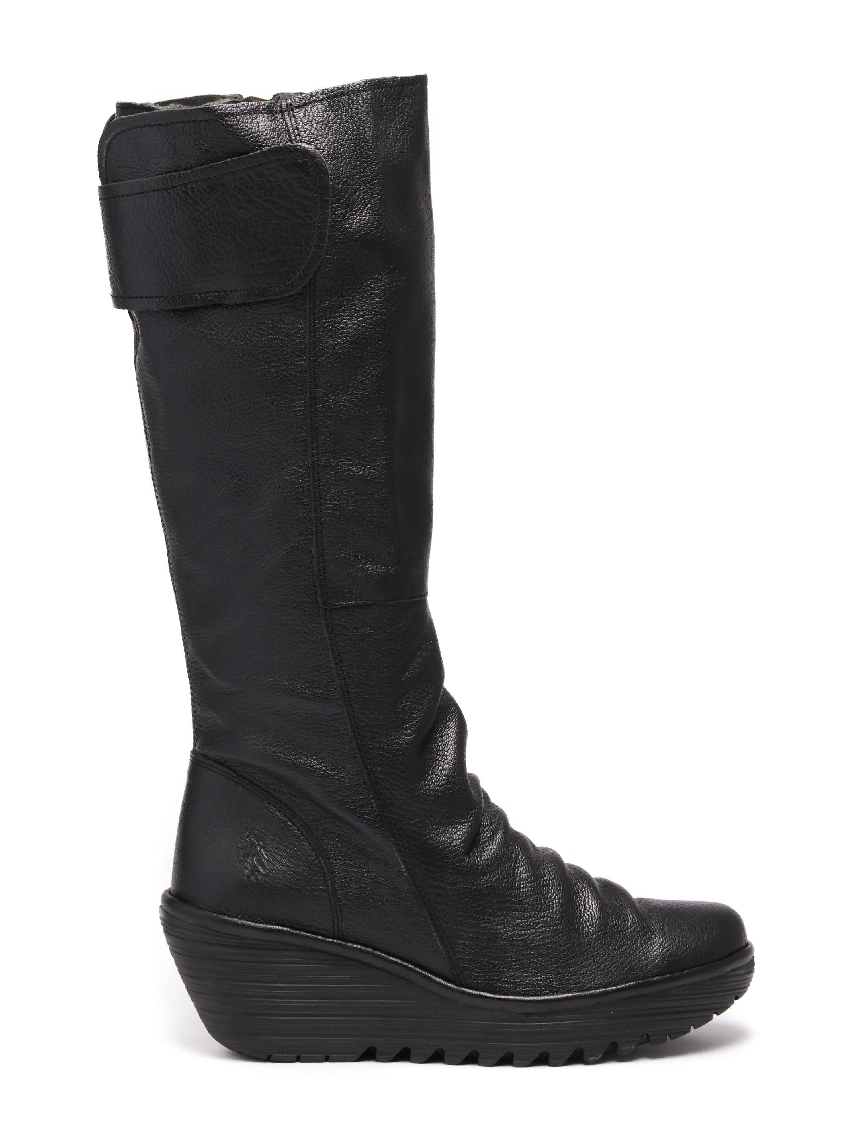 Fly London Women's Yulo Knee High Boots - Black