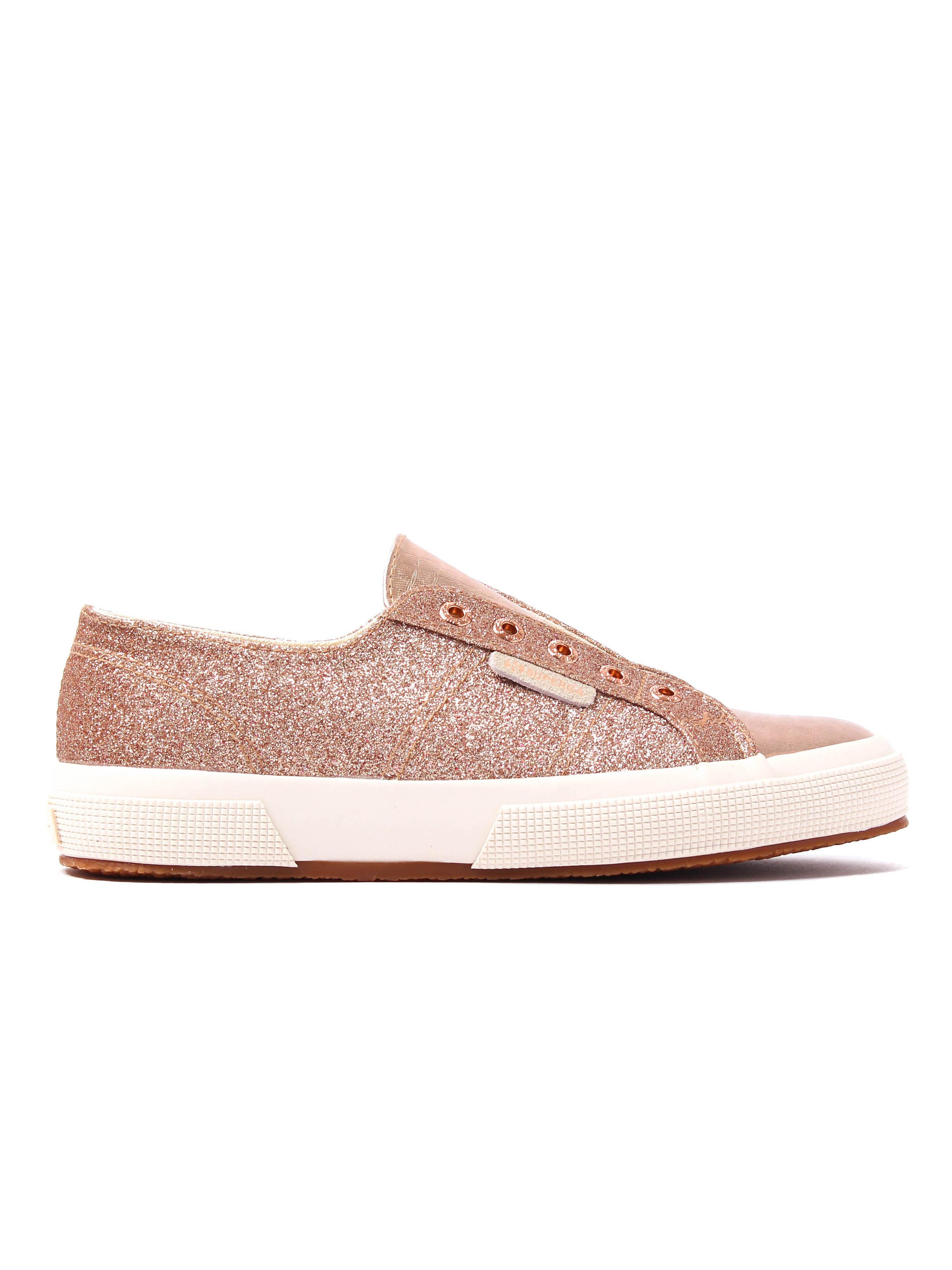 Superga Women's 2750 Microglitter Trainers - Rose Gold