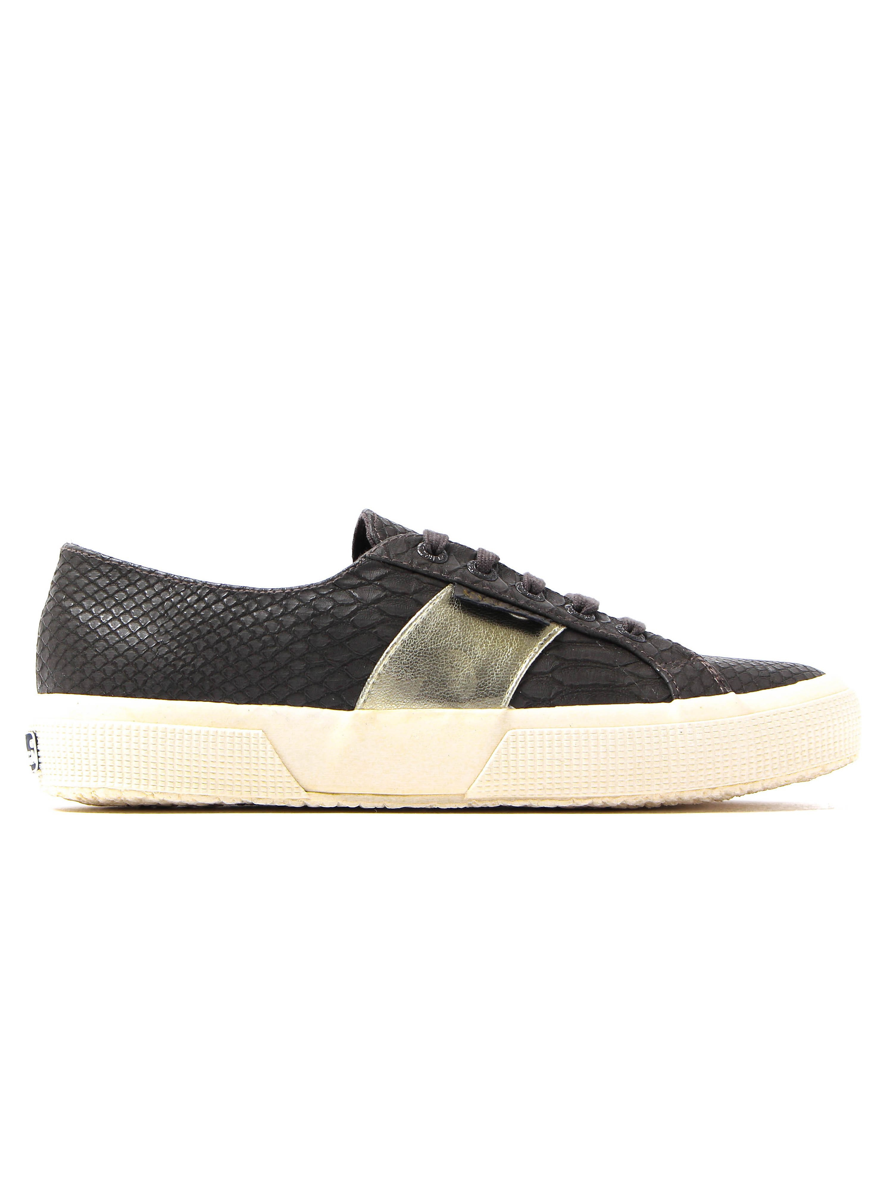Superga Women's 2750 Snake Trainers - Brown Coffee