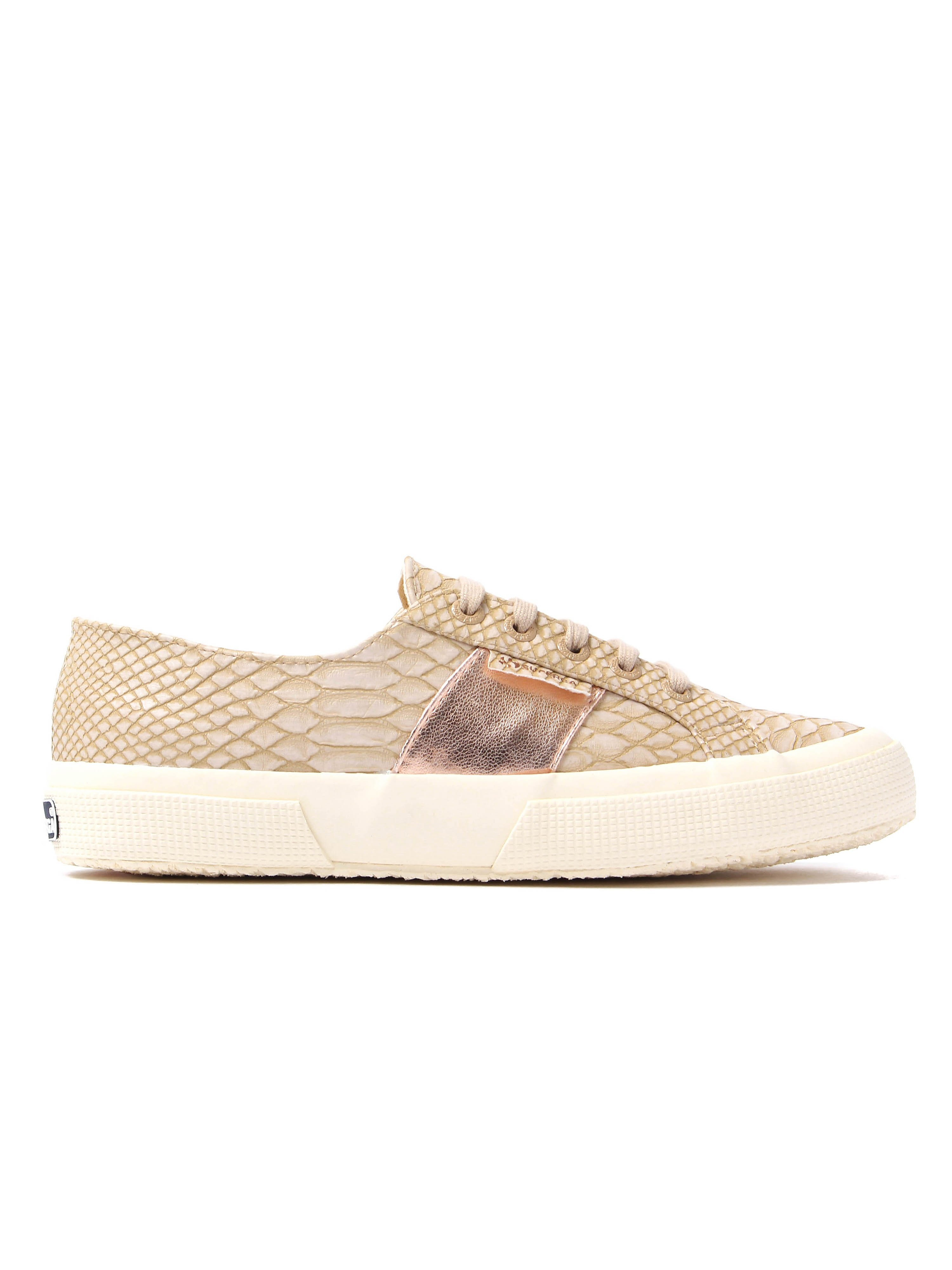 Superga Women's 2750 Snake Trainers - Nude
