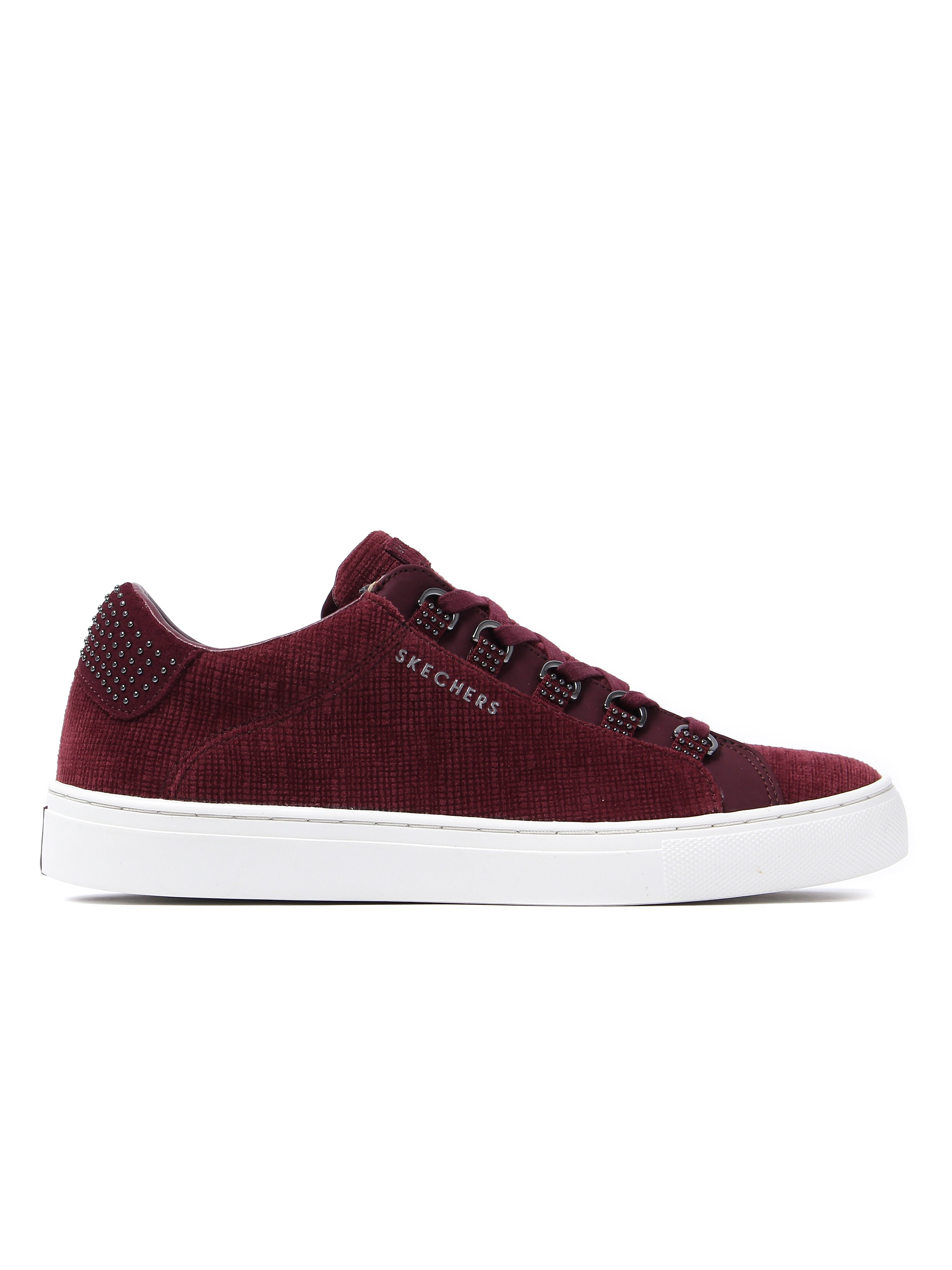Skechers Women's Side Street Kickbacks Trainers - Burgundy Velvet