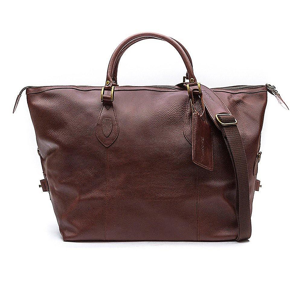 Barbour Travel Explorer Bag - Brown Leather