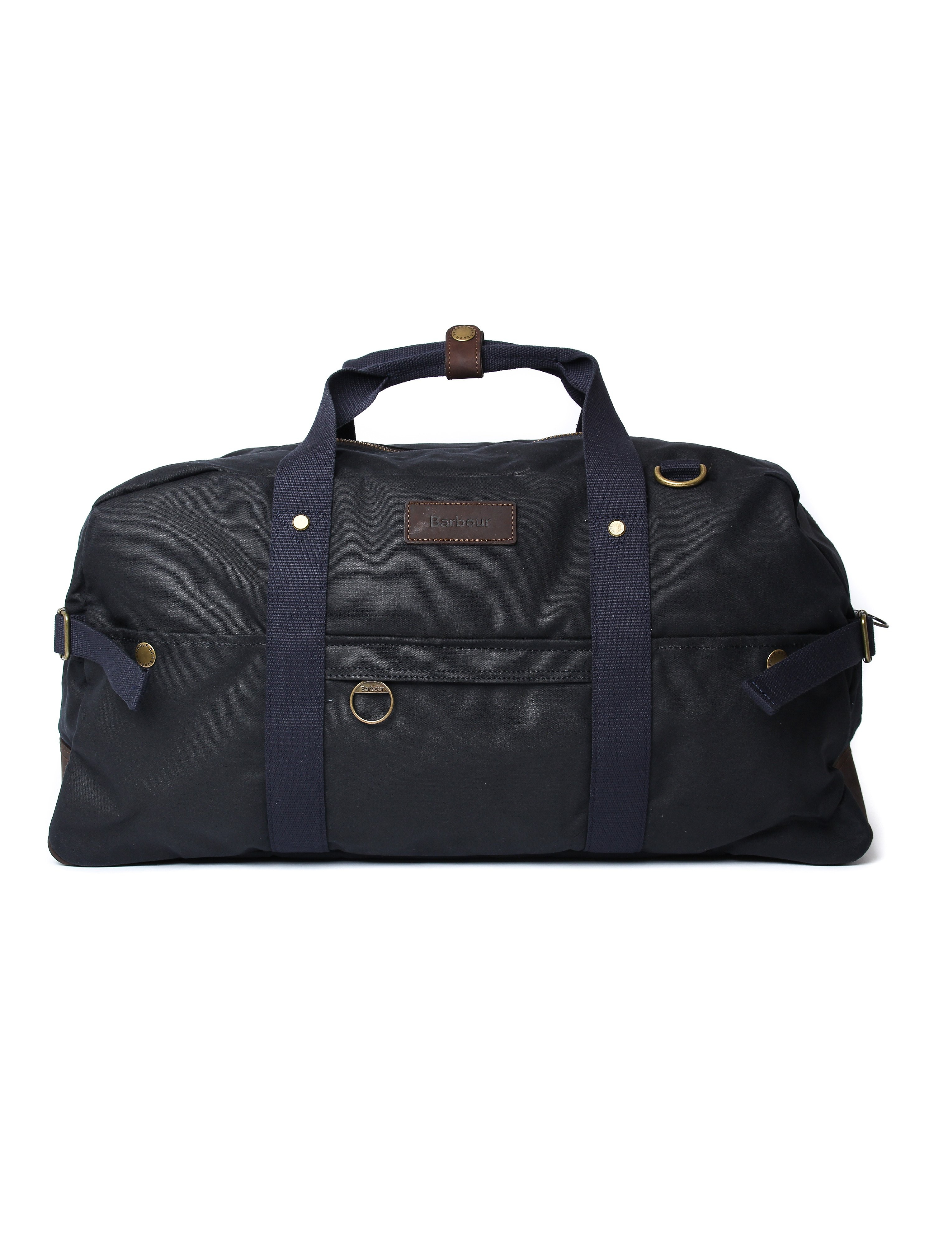 Barbour Gamefair Wax Cotton Holdall Bag - Navy