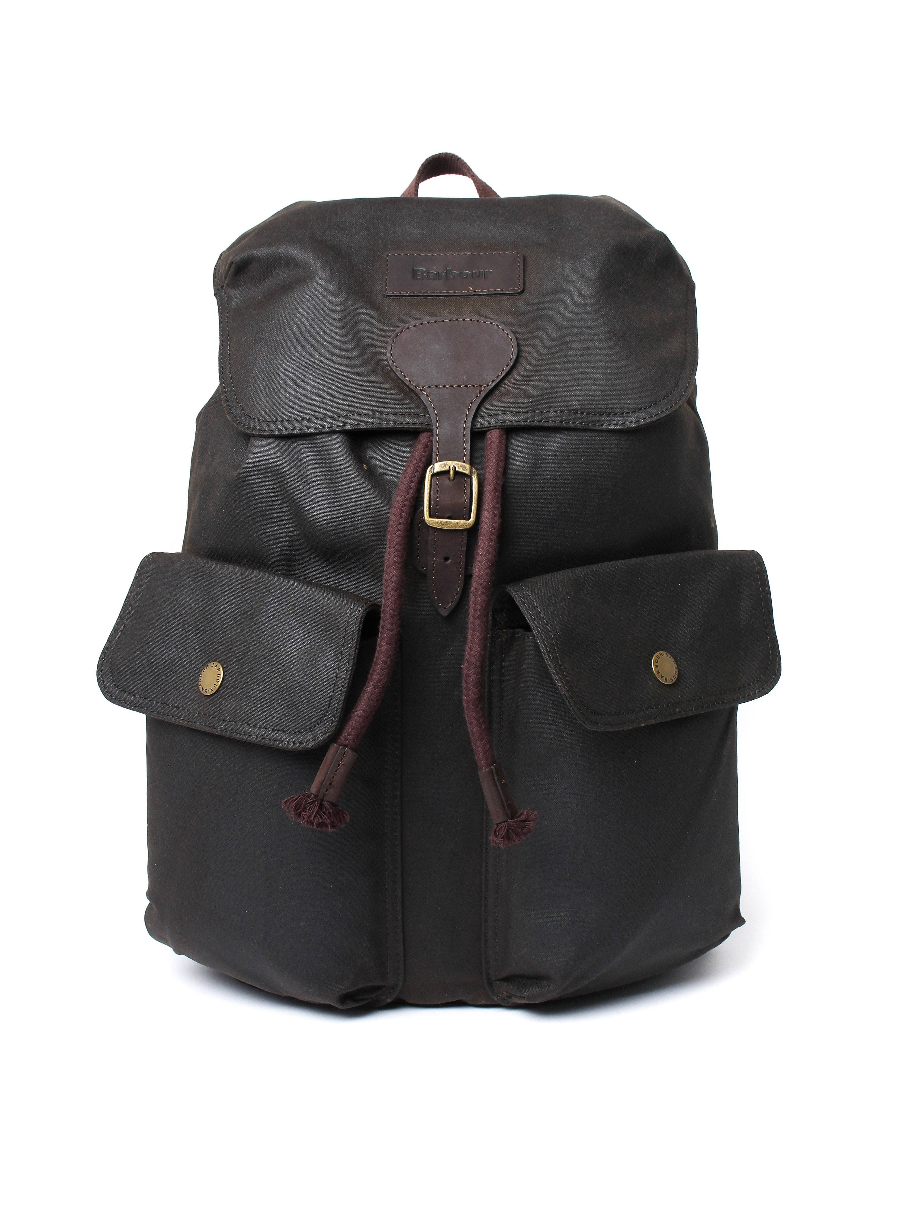 Barbour Beaufort Wax Leather Backpack - Olive