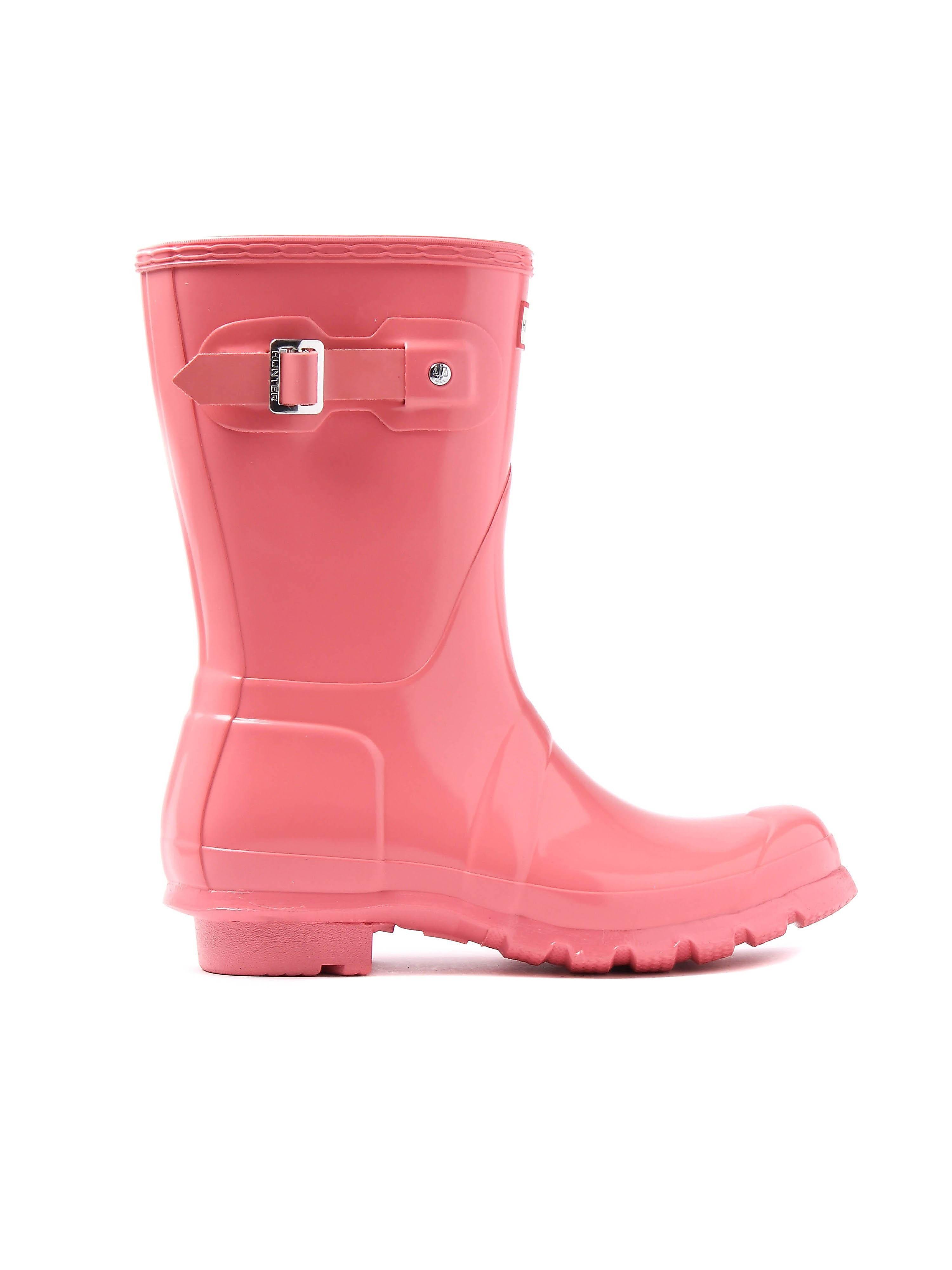Hunter Wellies Women's Original Short Wellington Boots - Pink Gloss