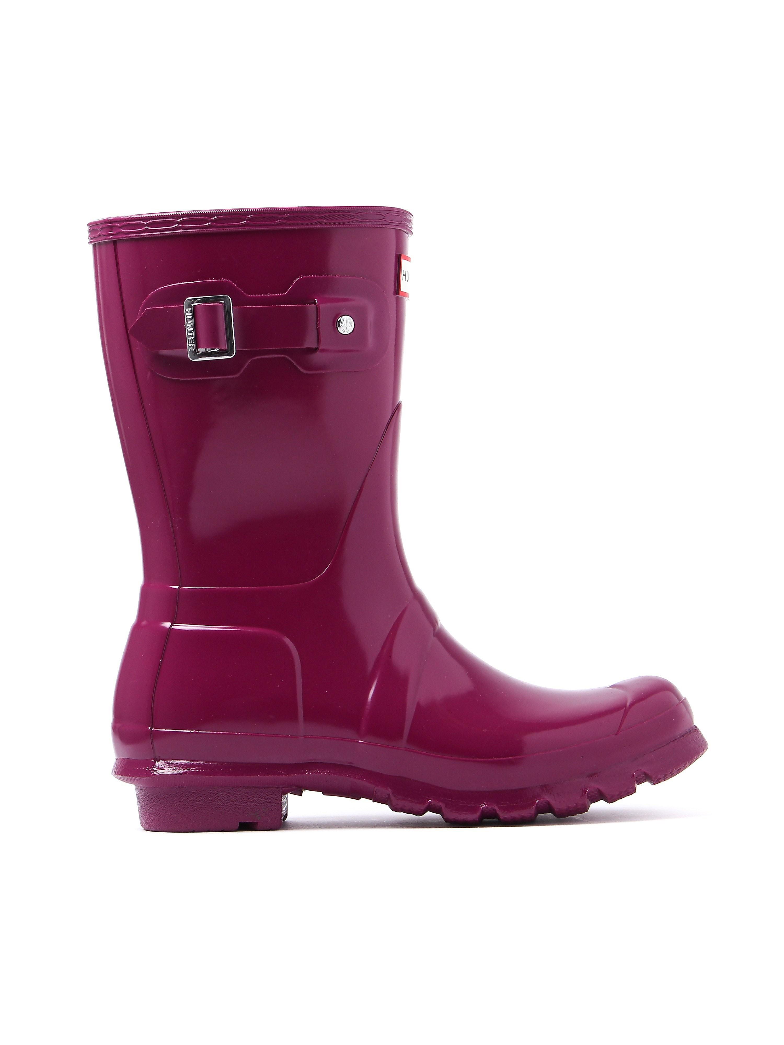 Hunter Wellies Women's Original Short Wellington Boots - Violet Gloss