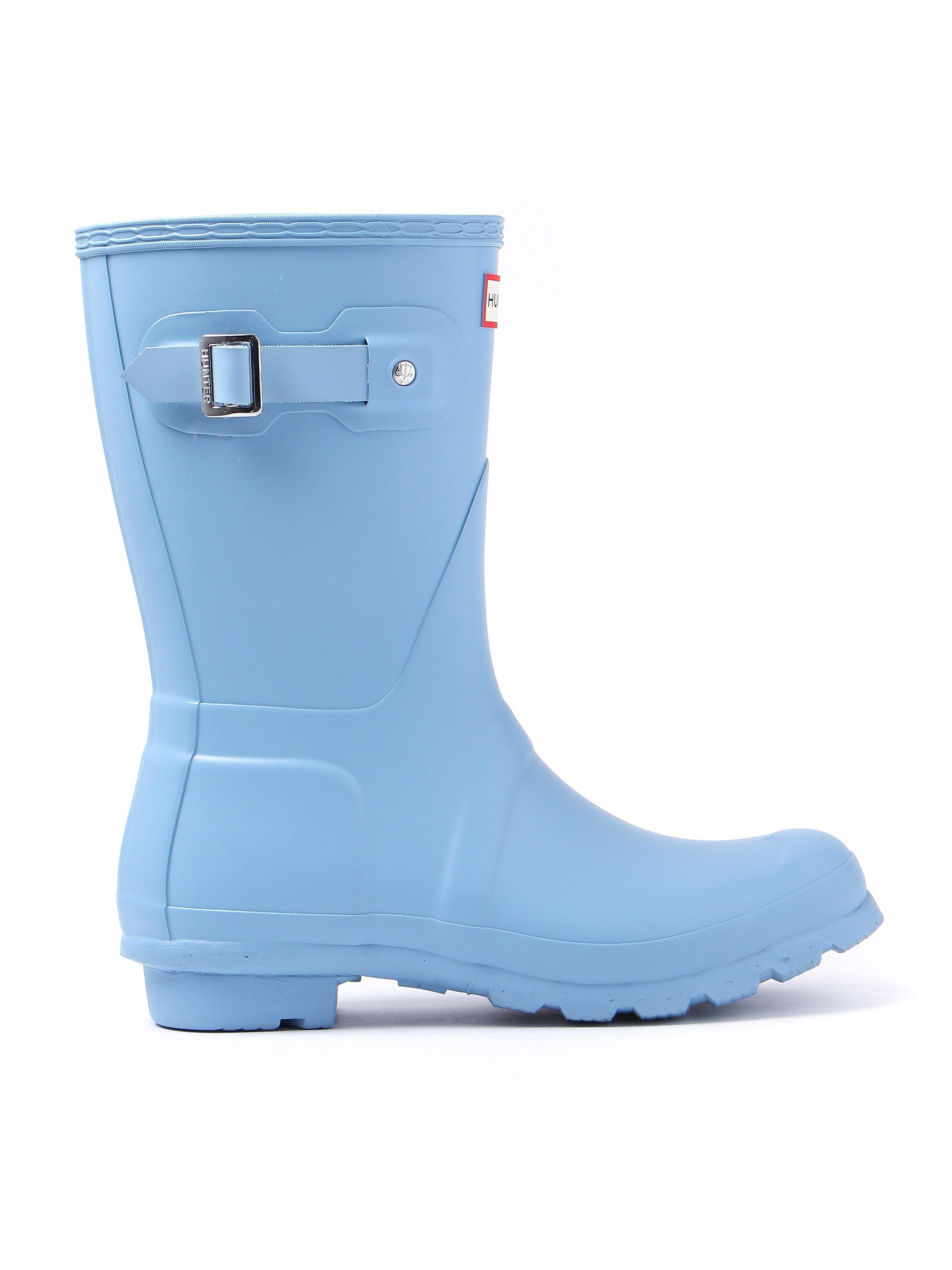 Hunter Wellies Women's Original Short Wellington Boots - Pale Blue