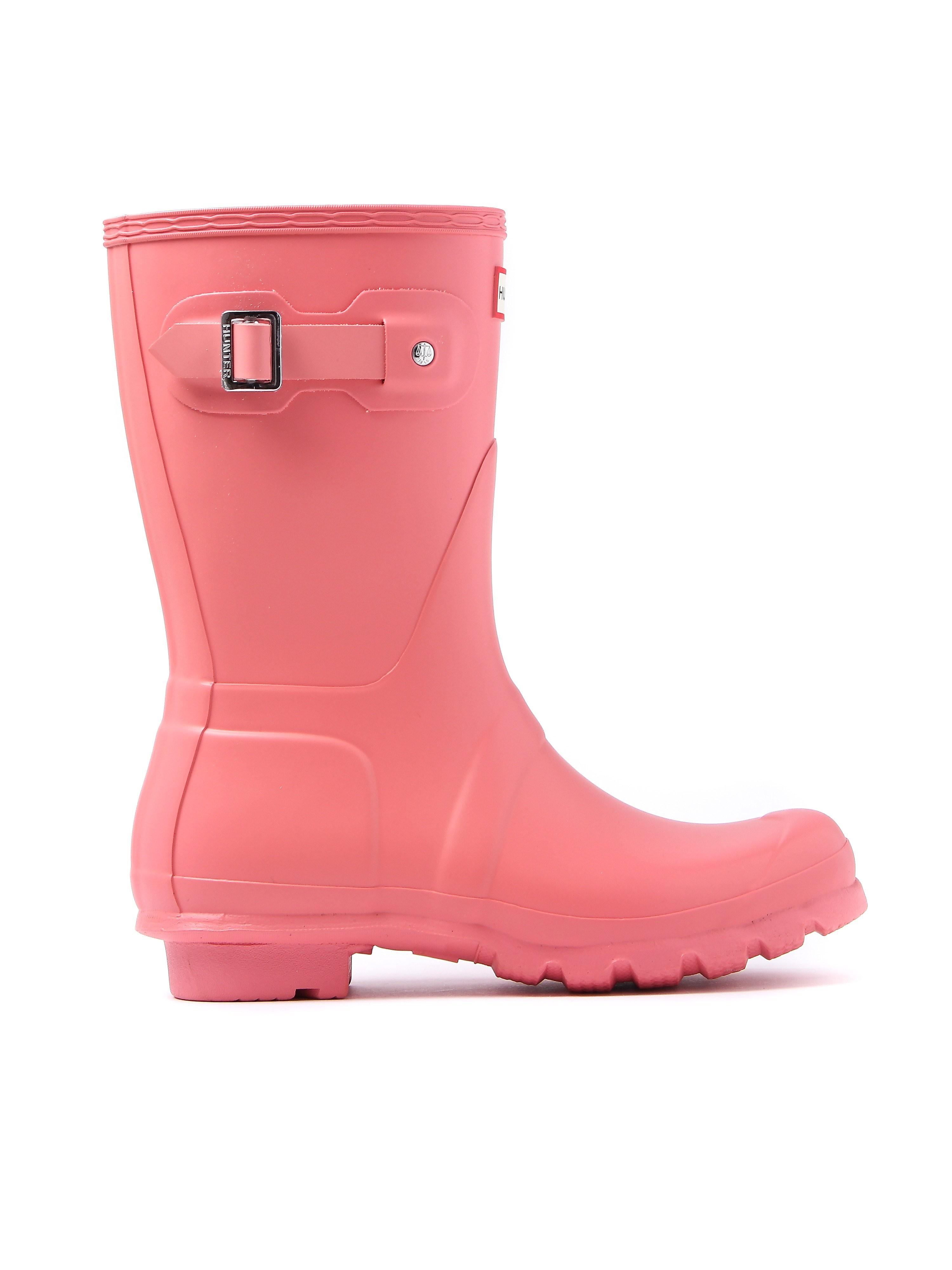 Hunter Wellies Women's Original Short Wellington Boots - Pink