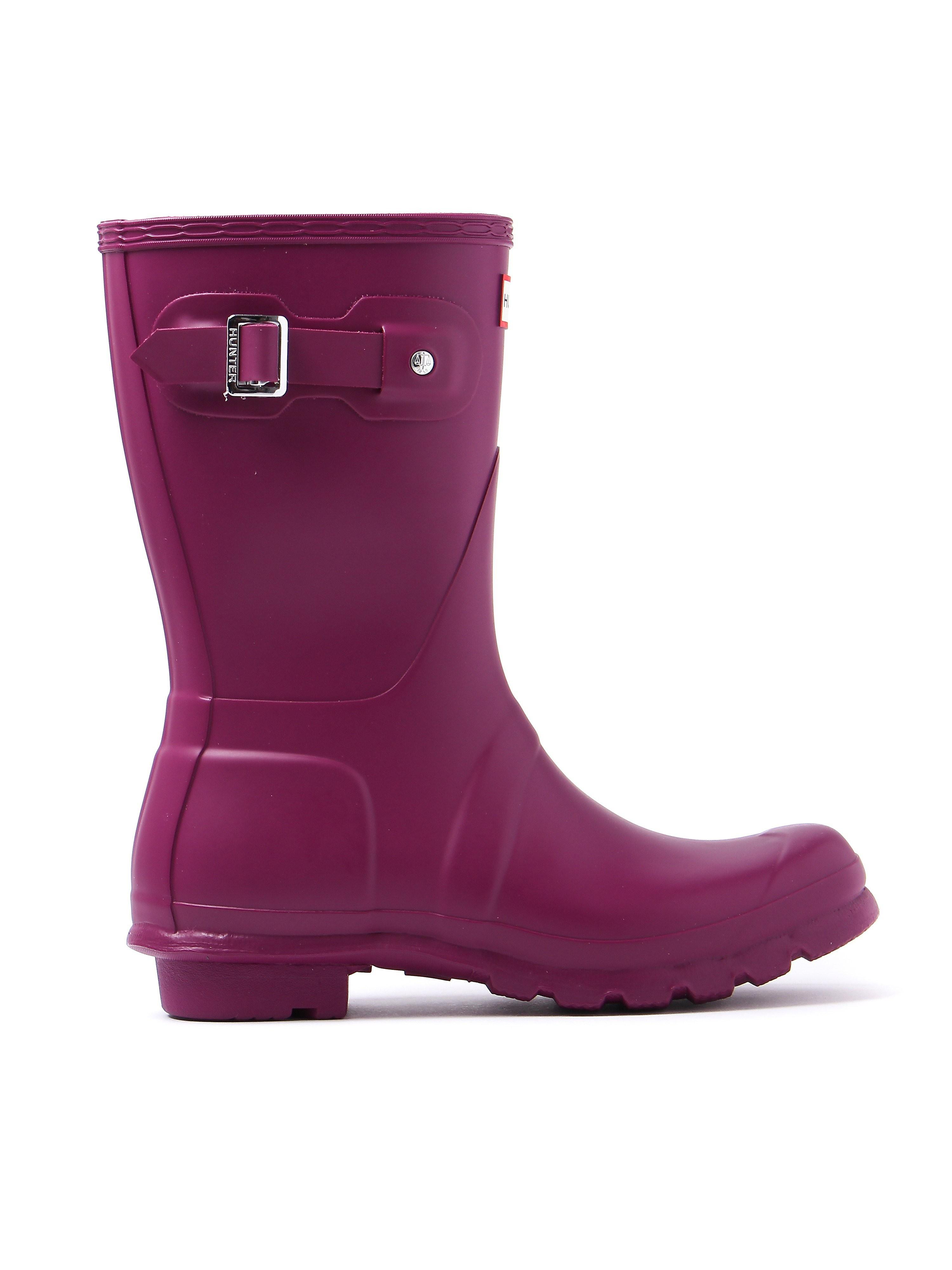 Hunter Wellies Women's Original Short Wellington Boots - Violet