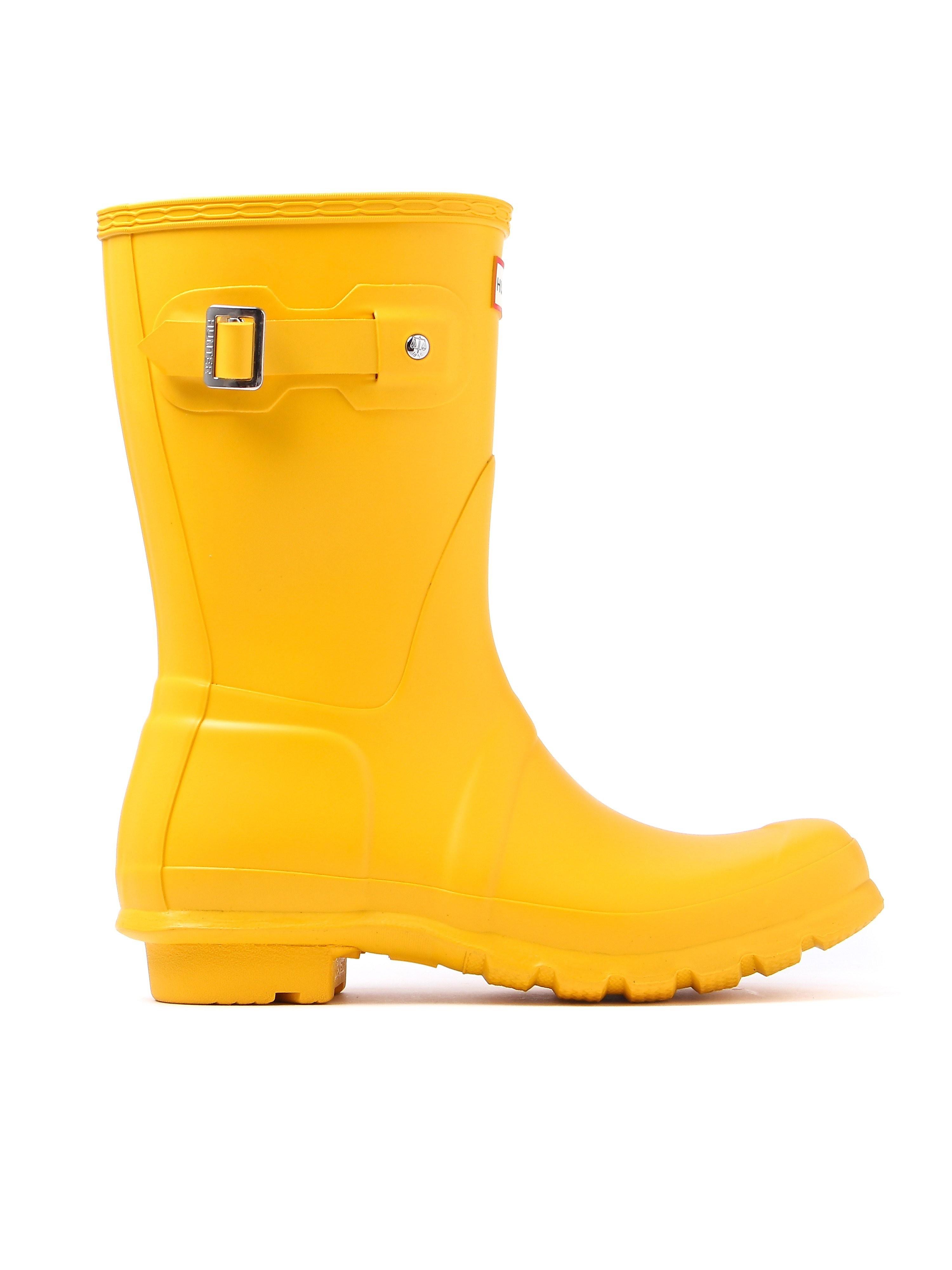 Hunter Wellies Women's Original Short Wellington Boots - Yellow