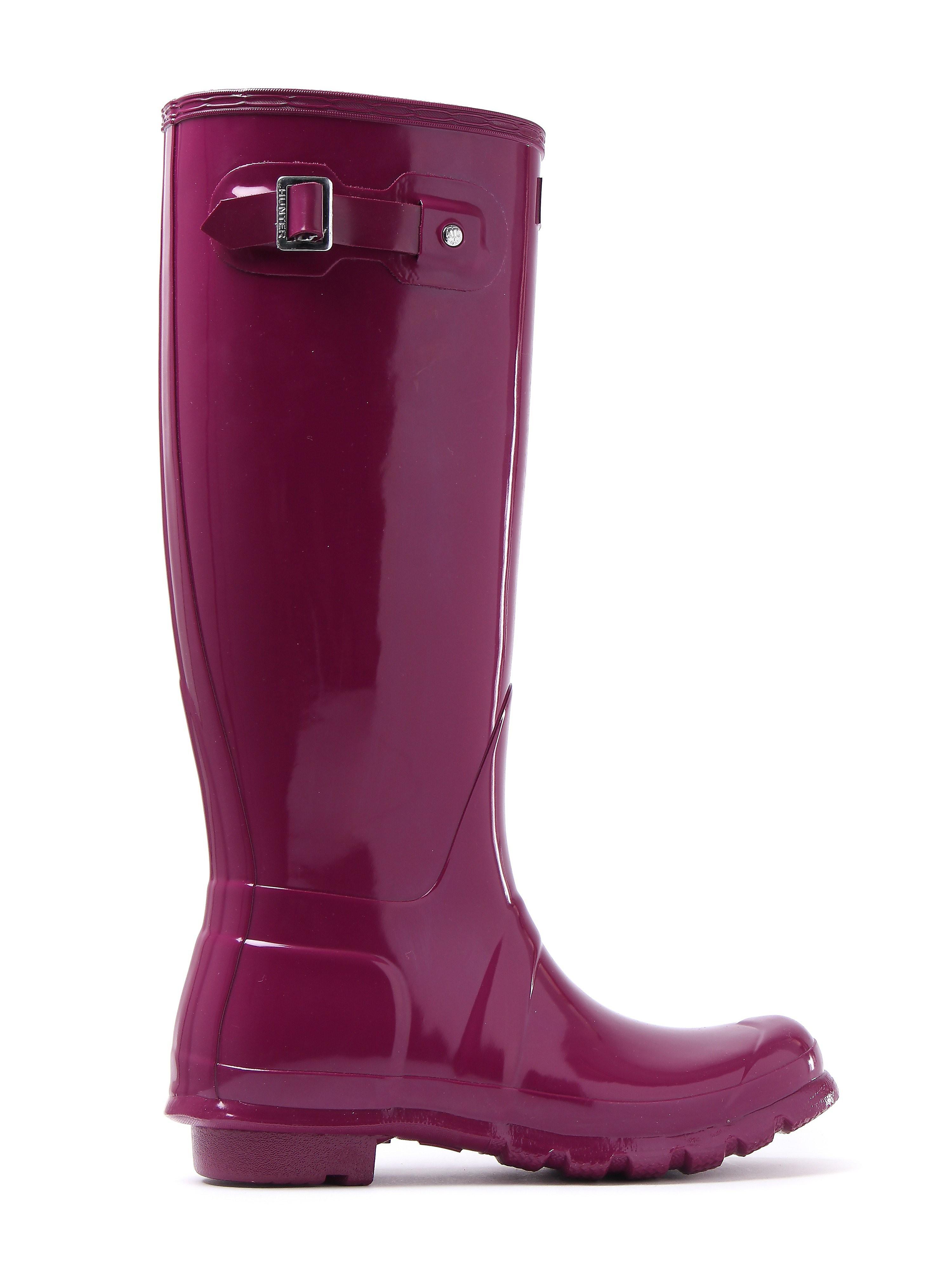 Hunter Wellies Women's Original Tall Wellington Boots - Violet Gloss