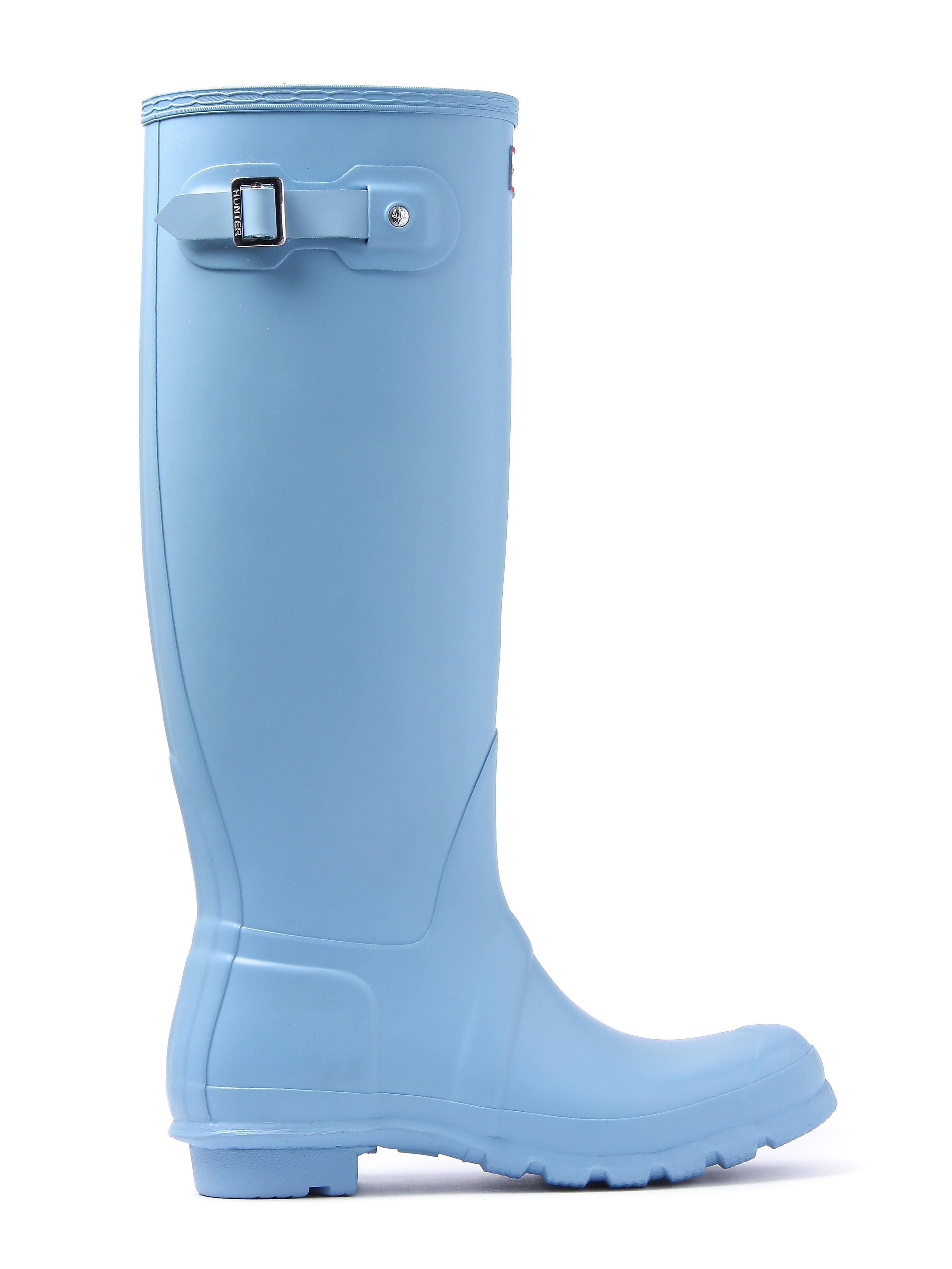 Hunter Wellies Women's Original Tall Wellington Boots - Pale Blue
