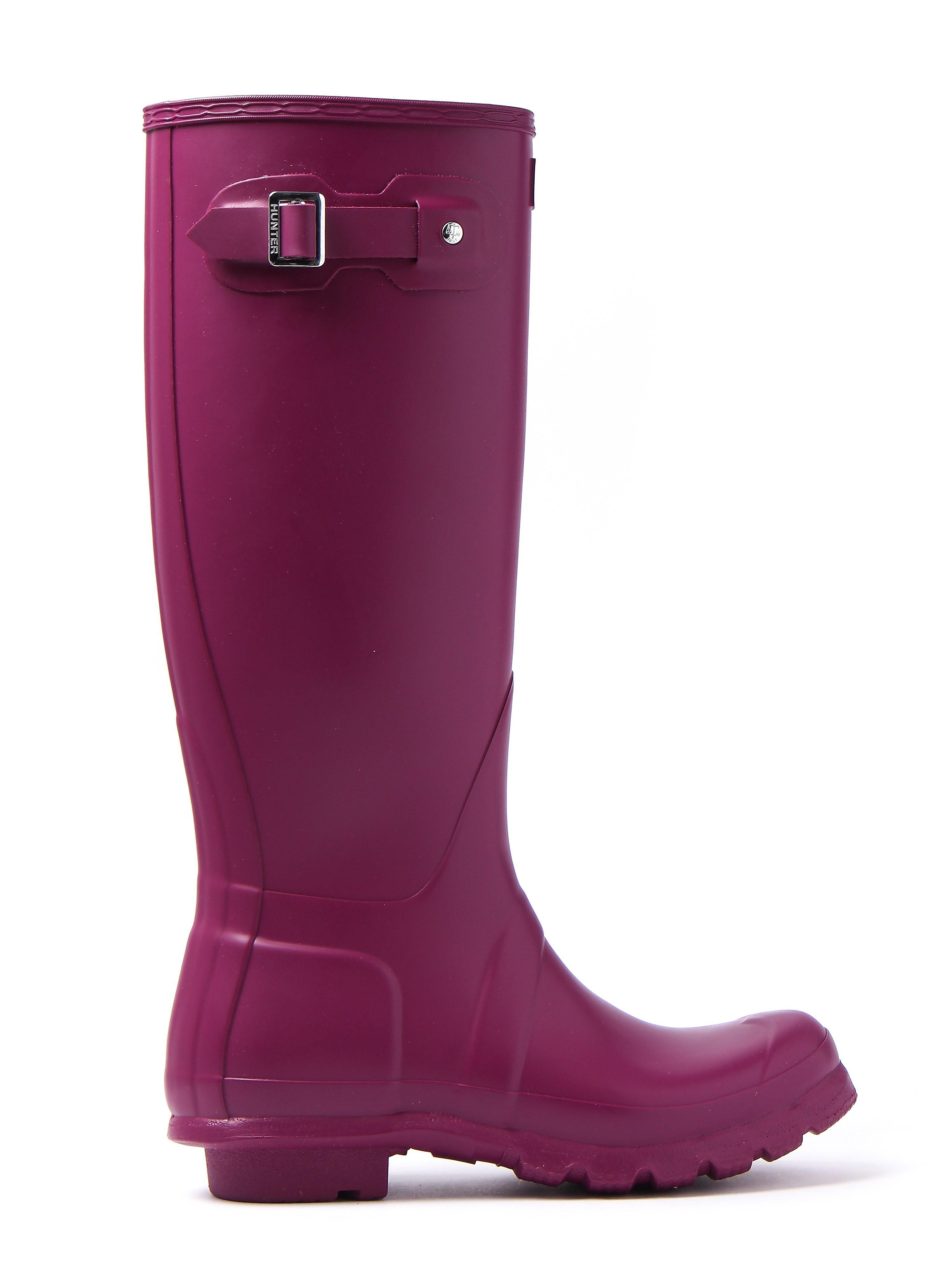 Hunter Wellies Women's Original Tall Wellington Boots - Violet